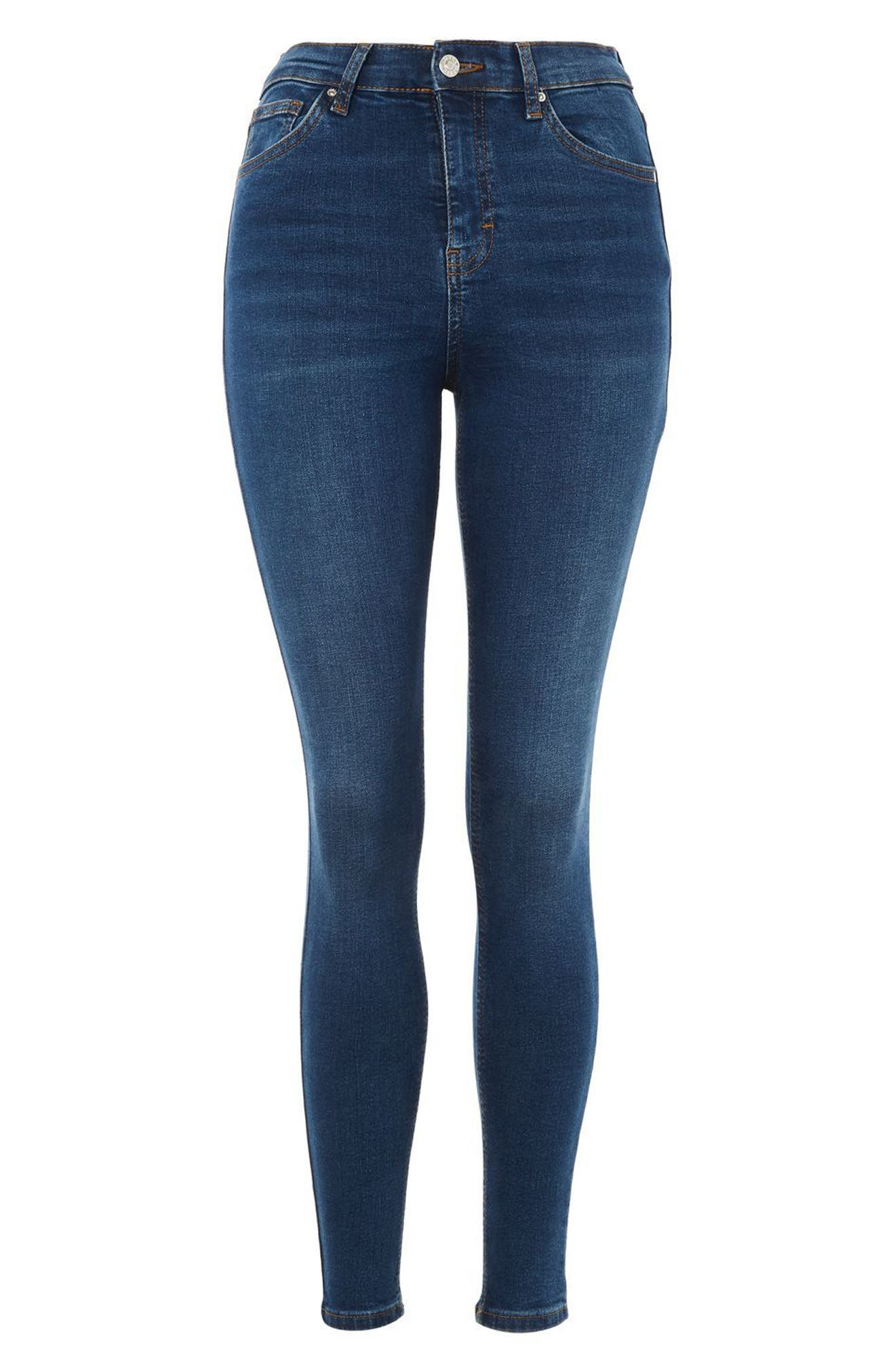 Alternate Image 3  - Topshop Jamie High Rise Ankle Skinny Jeans