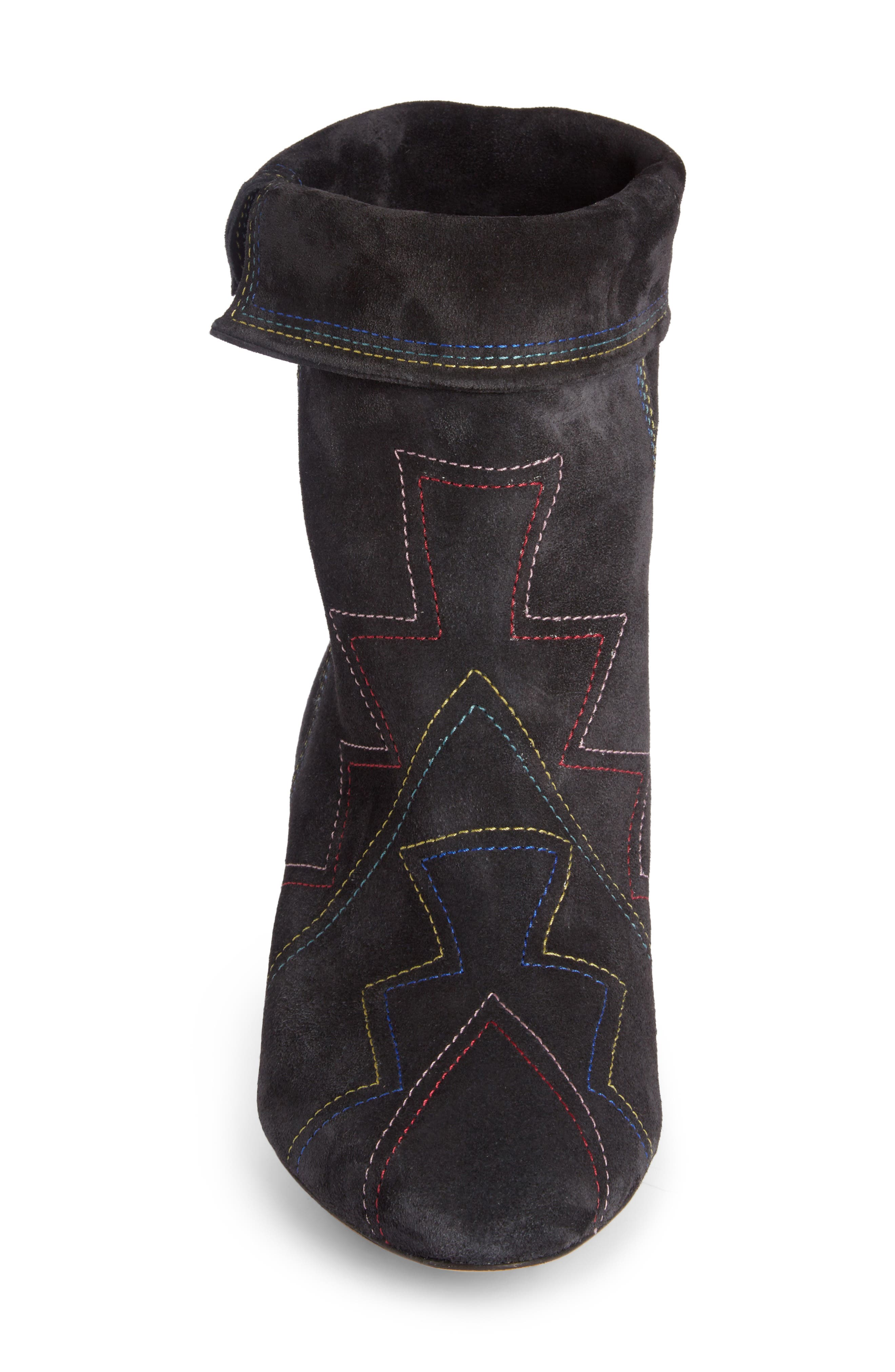 Dyna Topstitched Boot,                             Alternate thumbnail 3, color,                             Faded Black