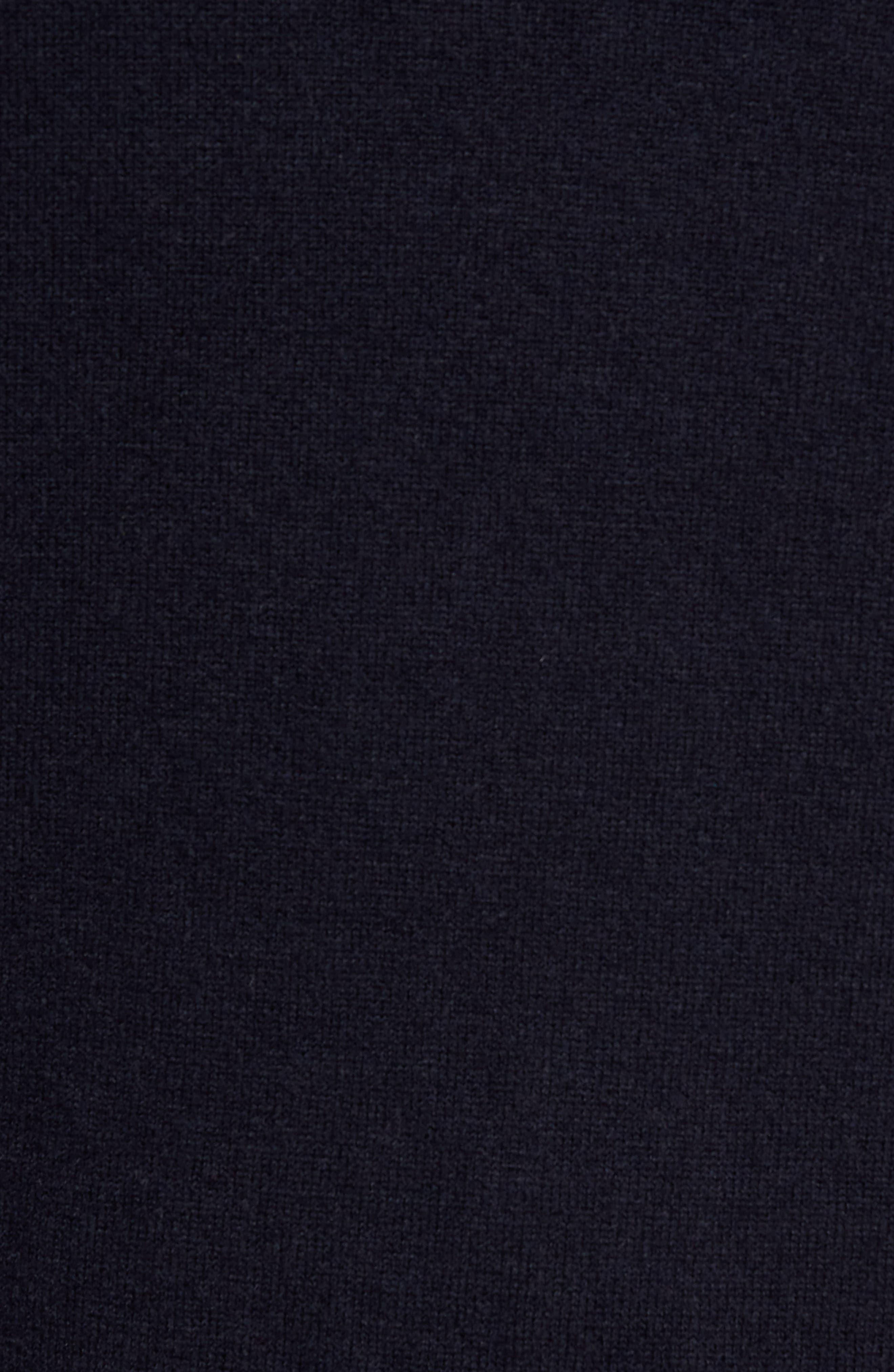 Merino Wool Baseball Sweater,                             Alternate thumbnail 5, color,                             Navy
