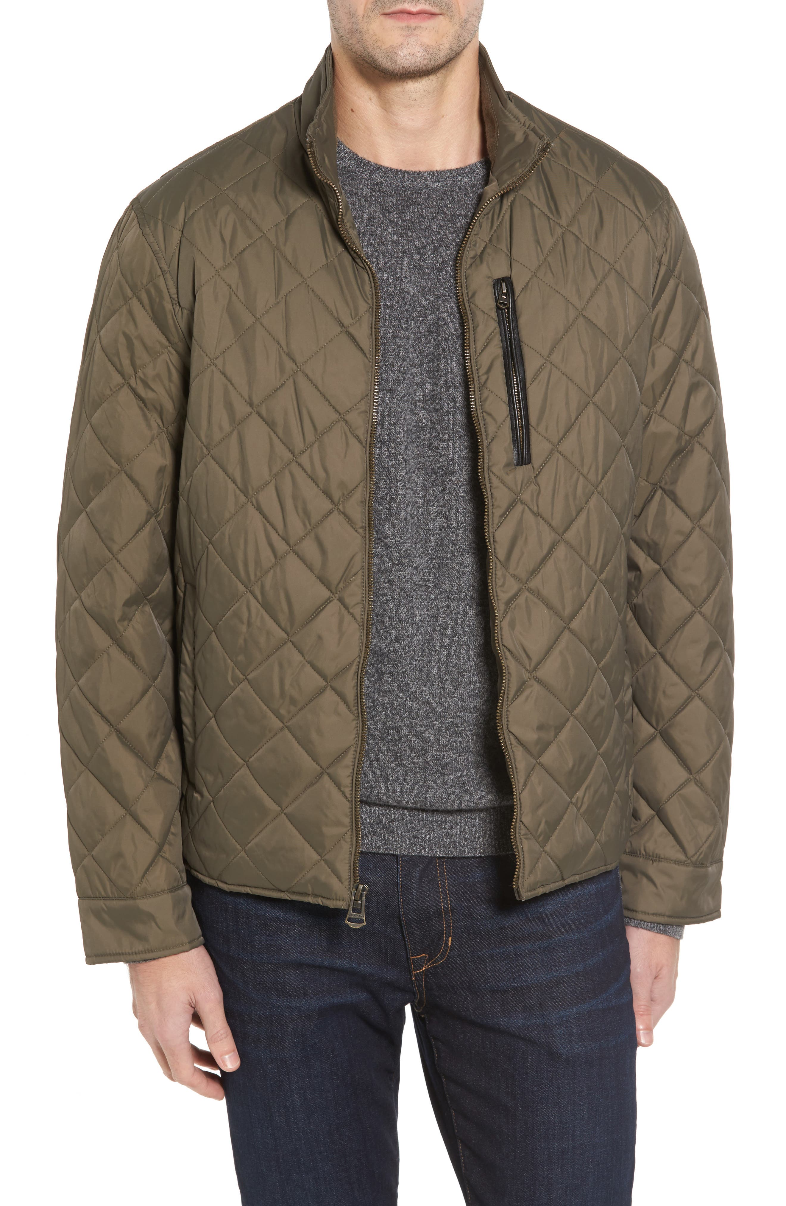 Quilted Jacket,                             Main thumbnail 1, color,                             Olive