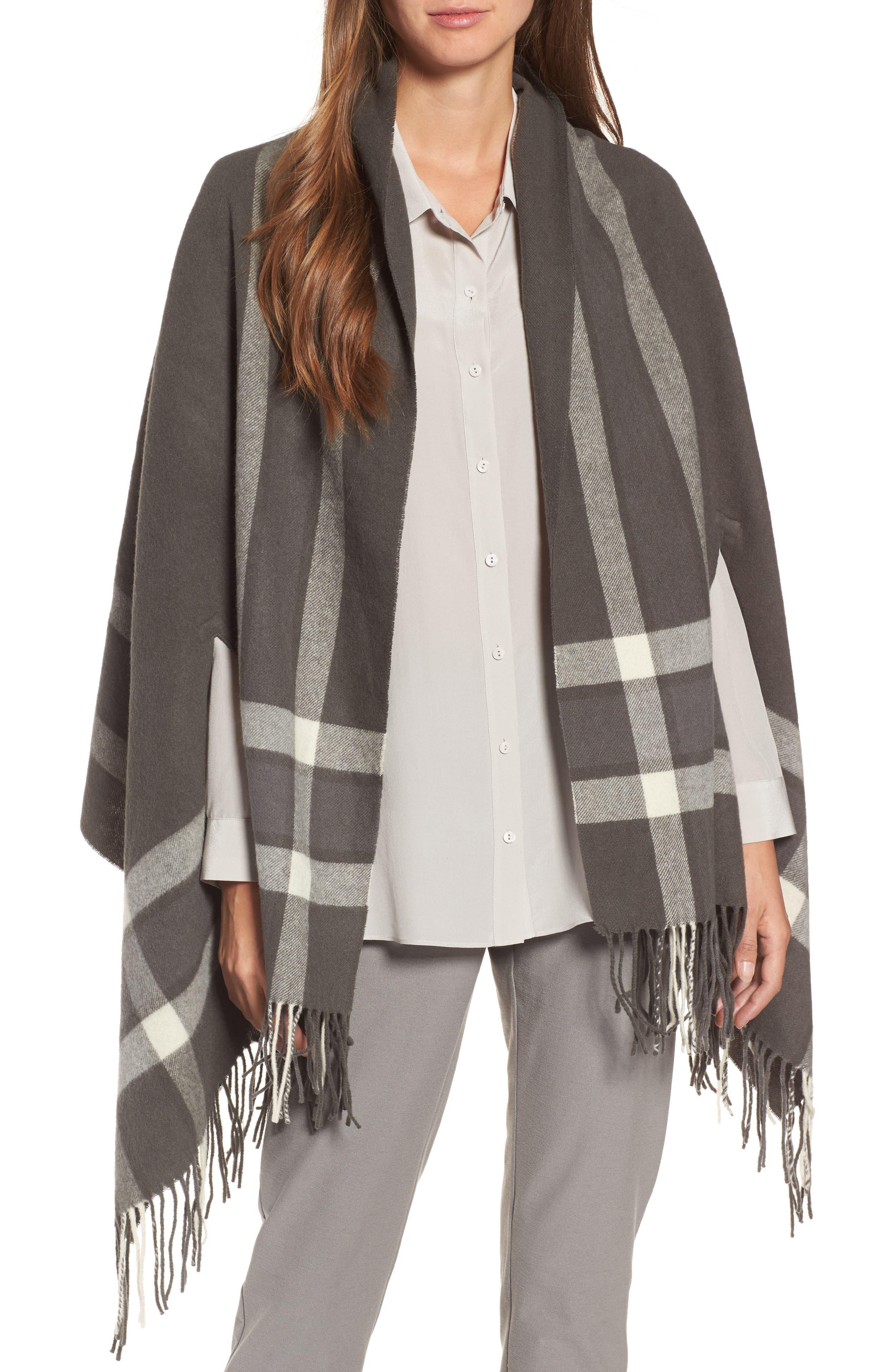 Wool Wrap,                         Main,                         color, Bark