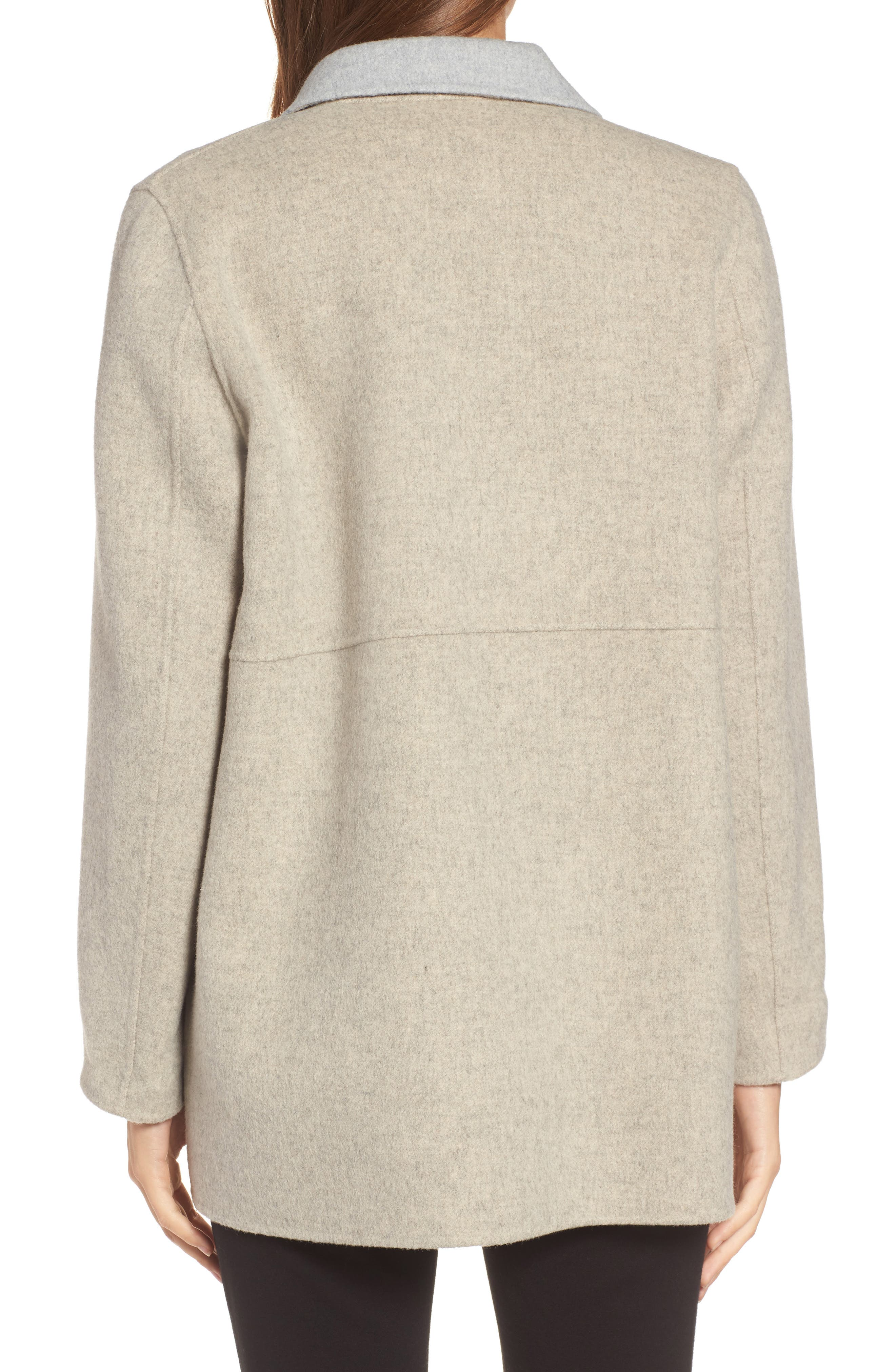 Alternate Image 2  - Eileen Fisher Double Face Brushed Wool Notch Collar Jacket