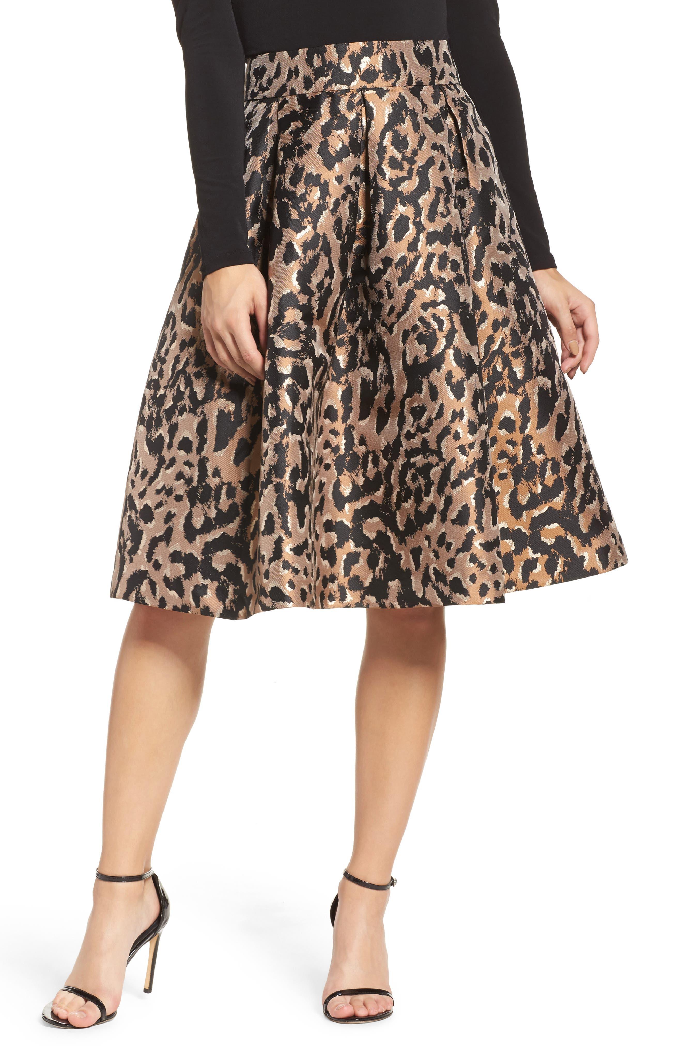 Midi Skirt,                         Main,                         color, Animal