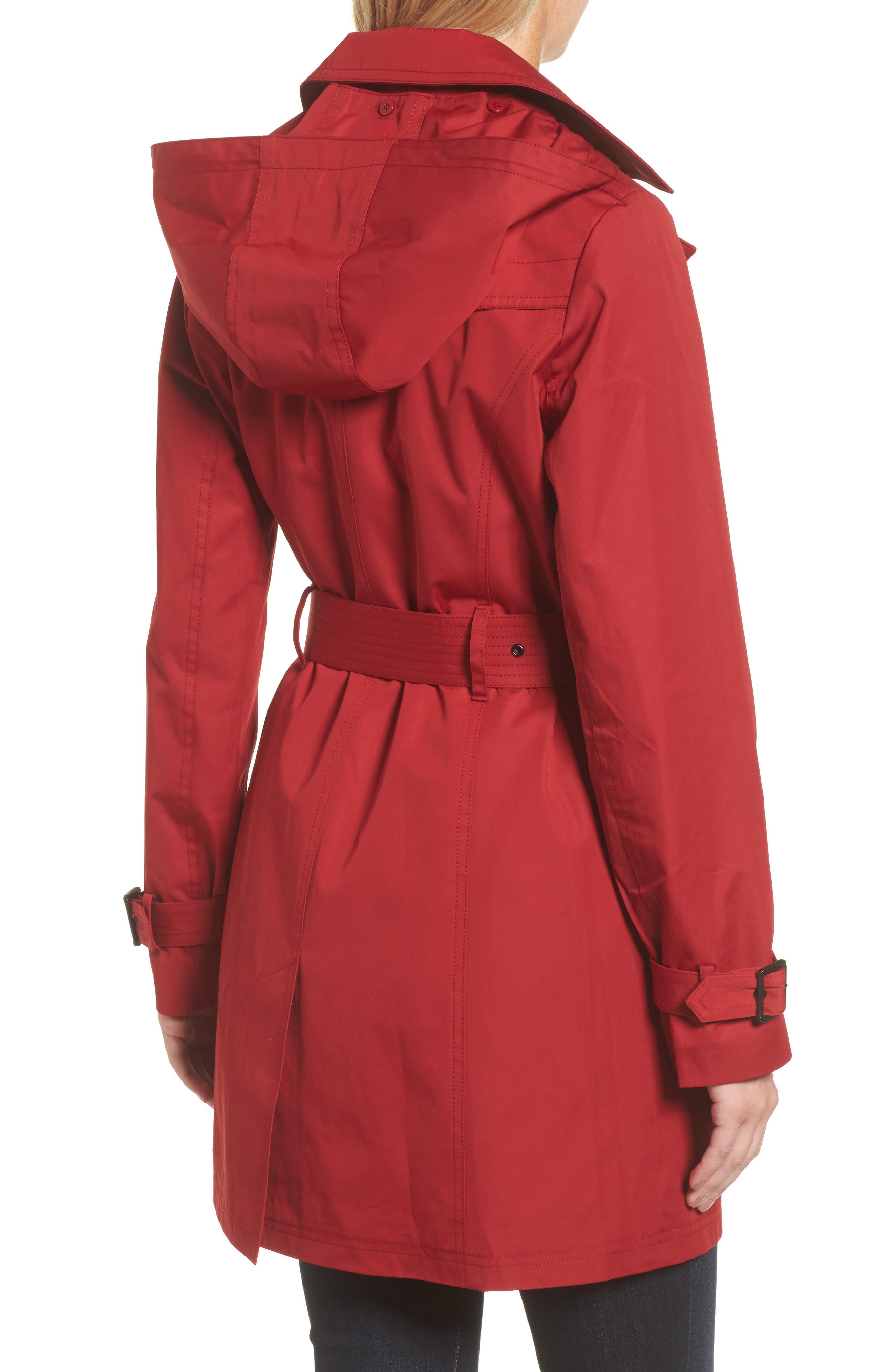 Alternate Image 2  - MICHAEL Michael Kors Belted Parka Jacket (Regular & Petite)