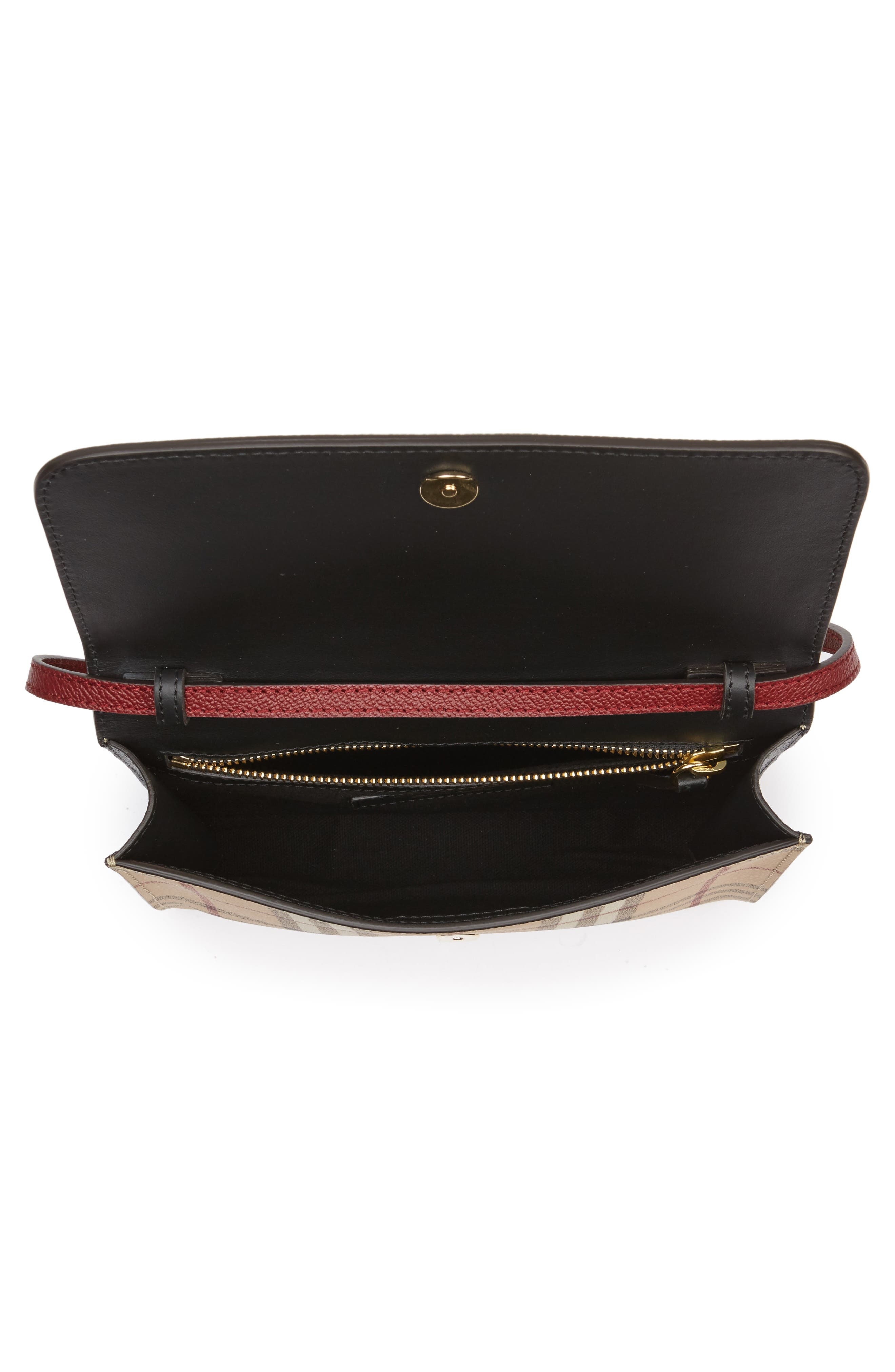Alternate Image 3  - Burberry Peyton Check Coated Canvas & Leather Crossbody Bag