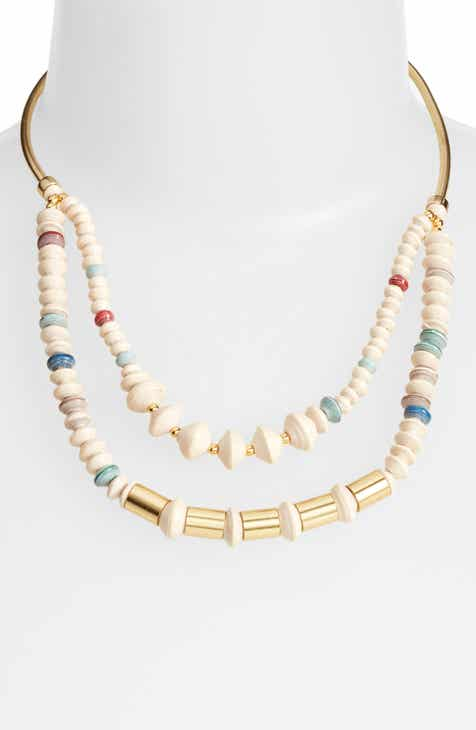 31 Bits Goldsweep Paper Bead Necklace