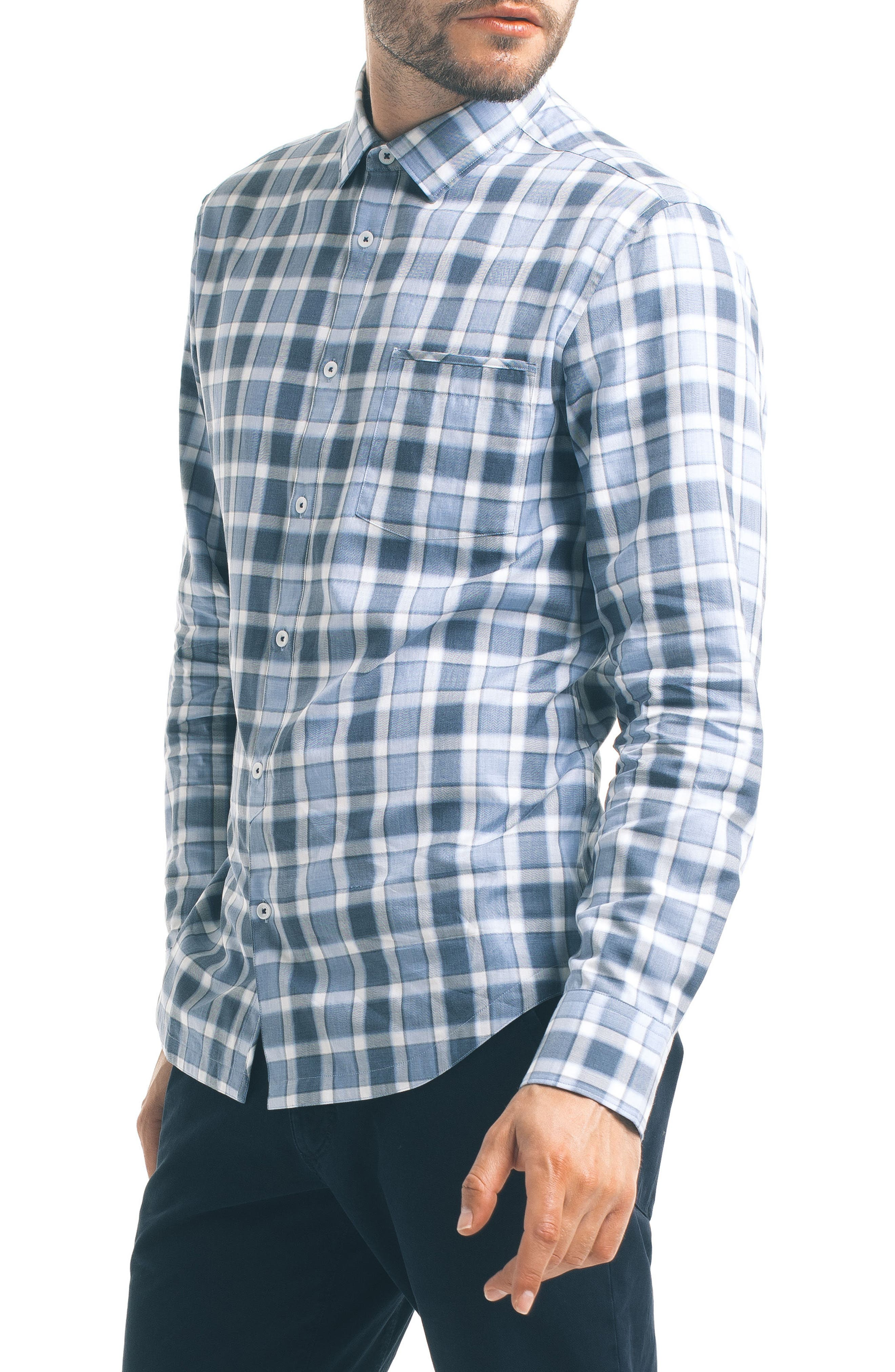 Alternate Image 5  - Good Man Brand Slim Fit Windowpane Check Sport Shirt