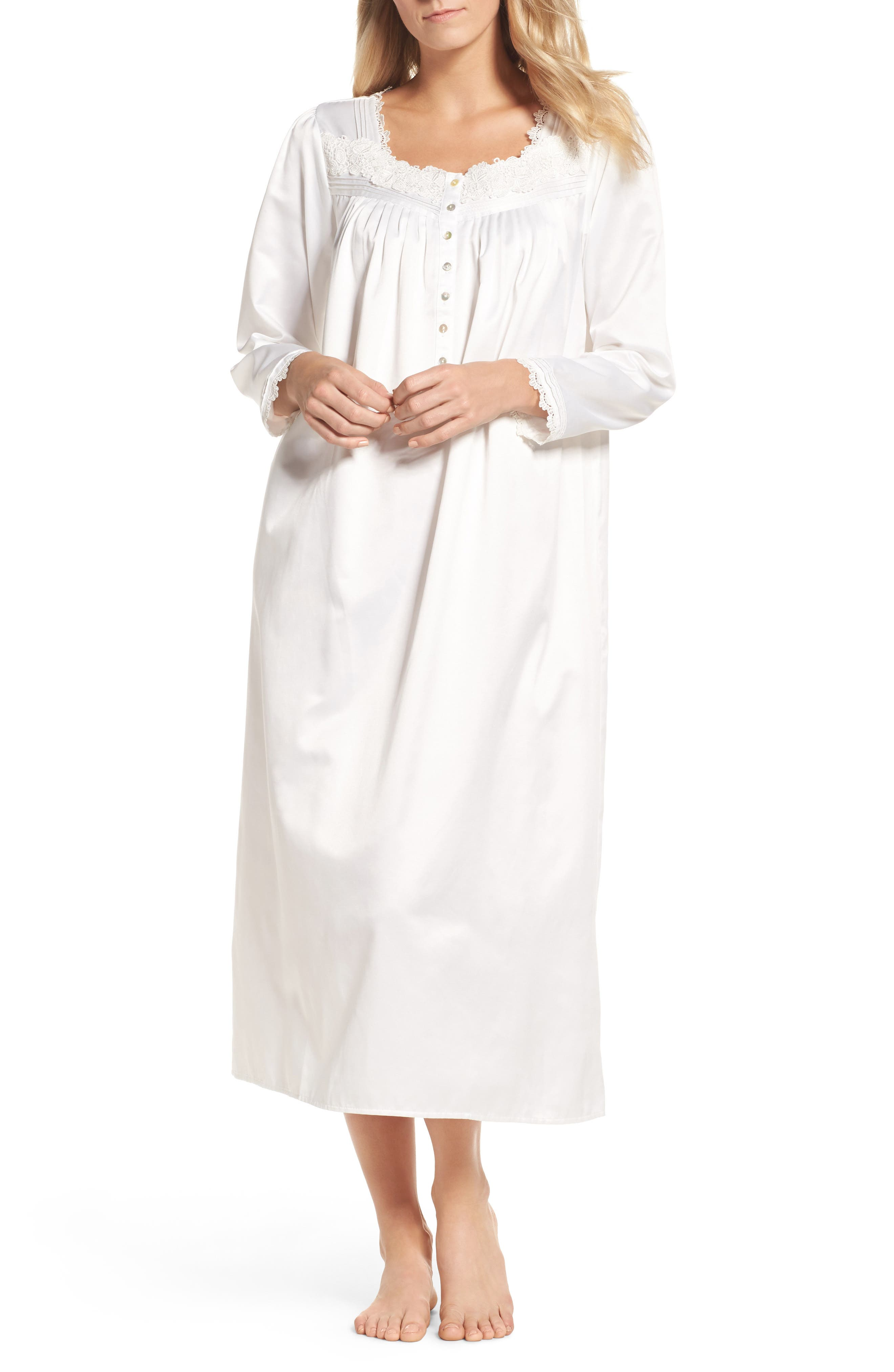 Nightgown,                             Main thumbnail 1, color,                             Solid Winter White