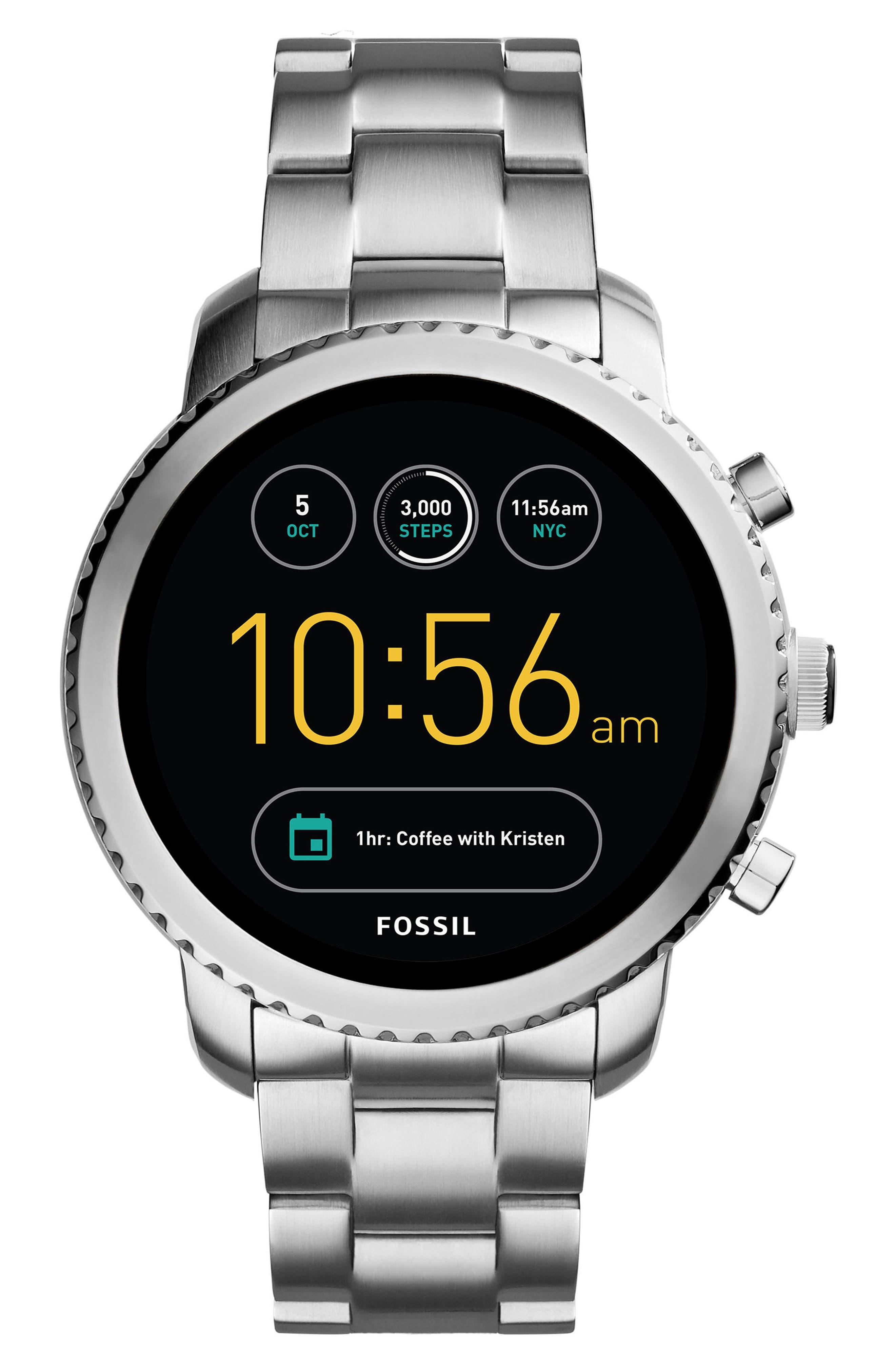 Main Image - Fossil Q Explorist Gen 3 Bracelet Smartwatch, 44mm