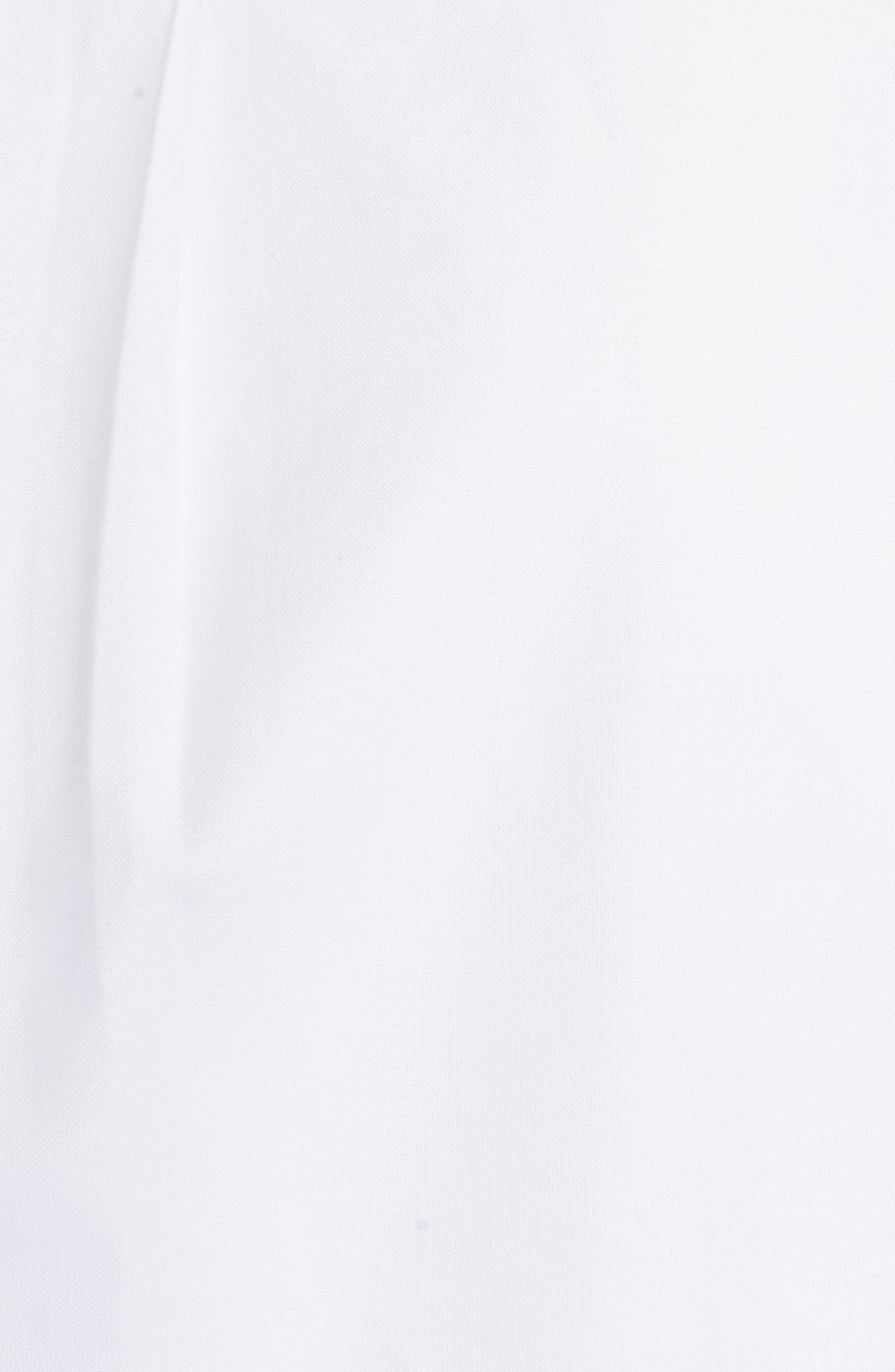 Knit Logo Woven Shirt,                             Alternate thumbnail 5, color,                             White