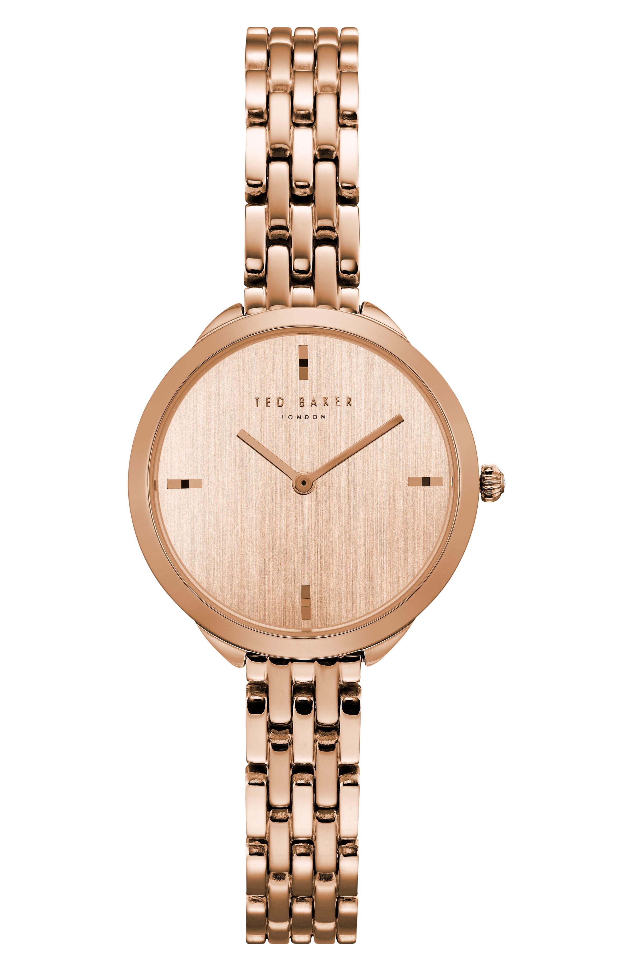 Elana Bracelet Watch, 30mm,                         Main,                         color, Rose Gold