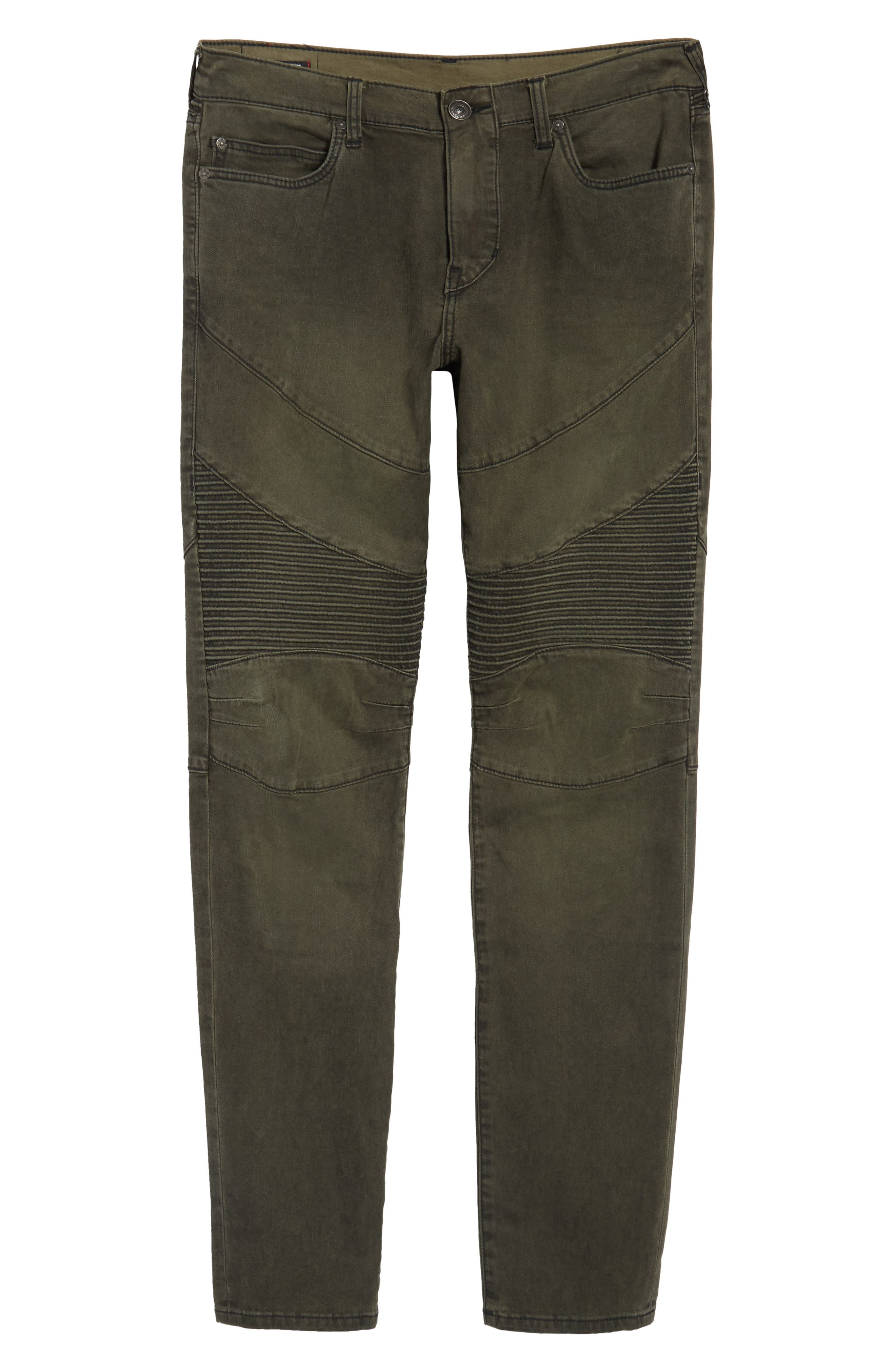 Alternate Image 6  - True Religion Brand Jeans Rocco Skinny Fit Jeans (Olive Coated)
