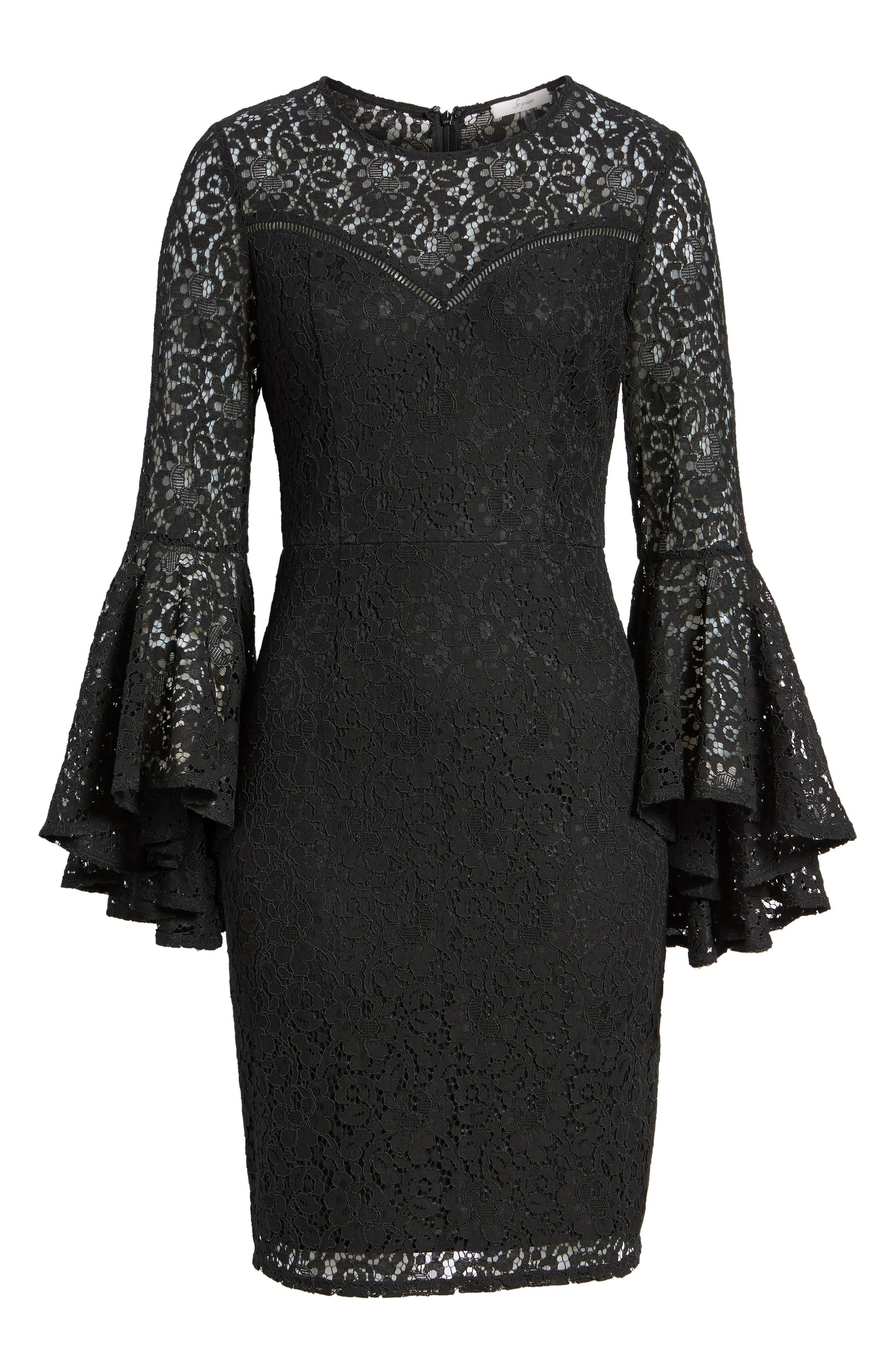 Alternate Image 6  - Soprano Lace Bell Sleeve Dress