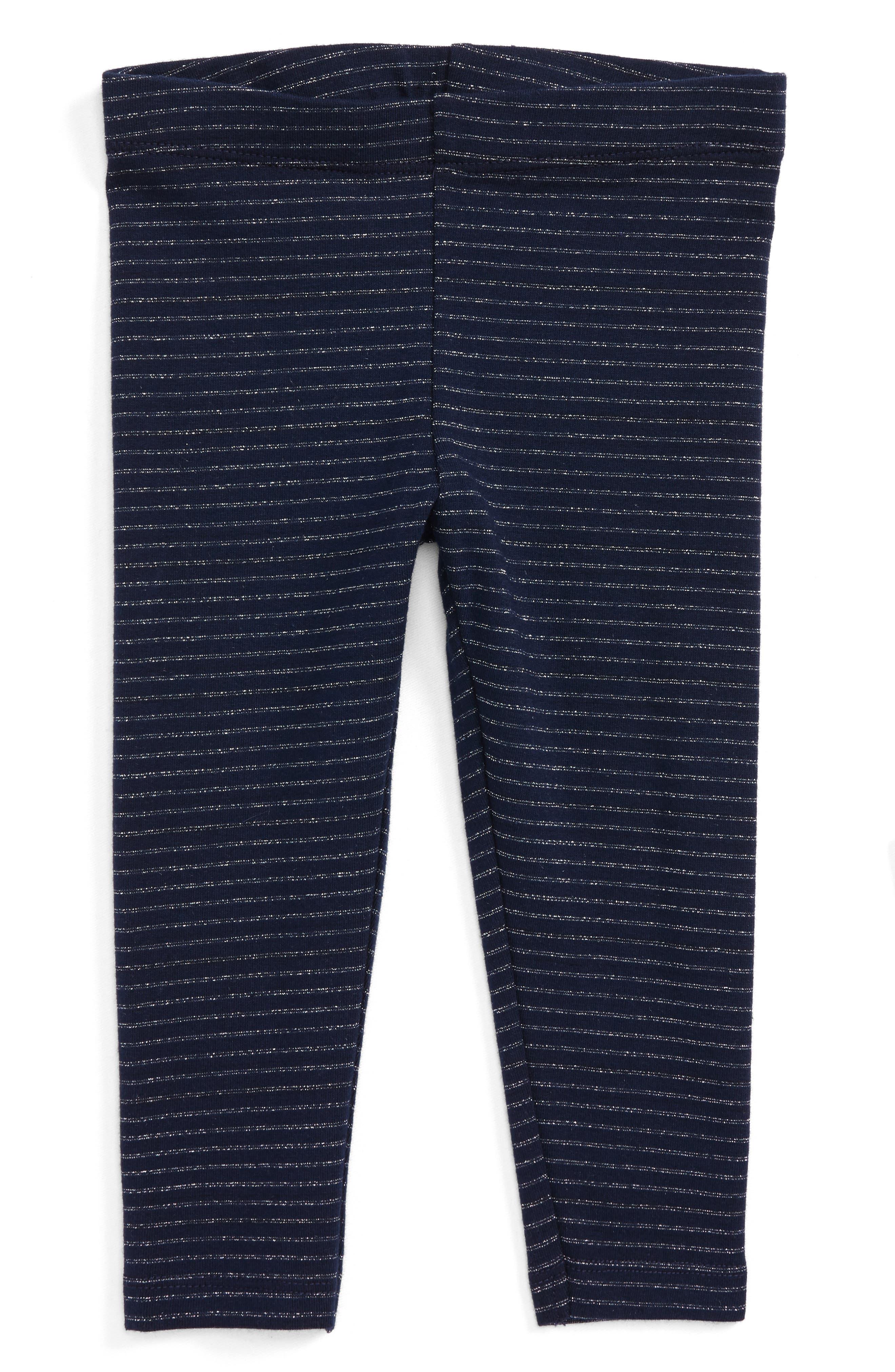 Metallic Stripe Leggings,                         Main,                         color, Navy Peacoat Sparkle Stripe