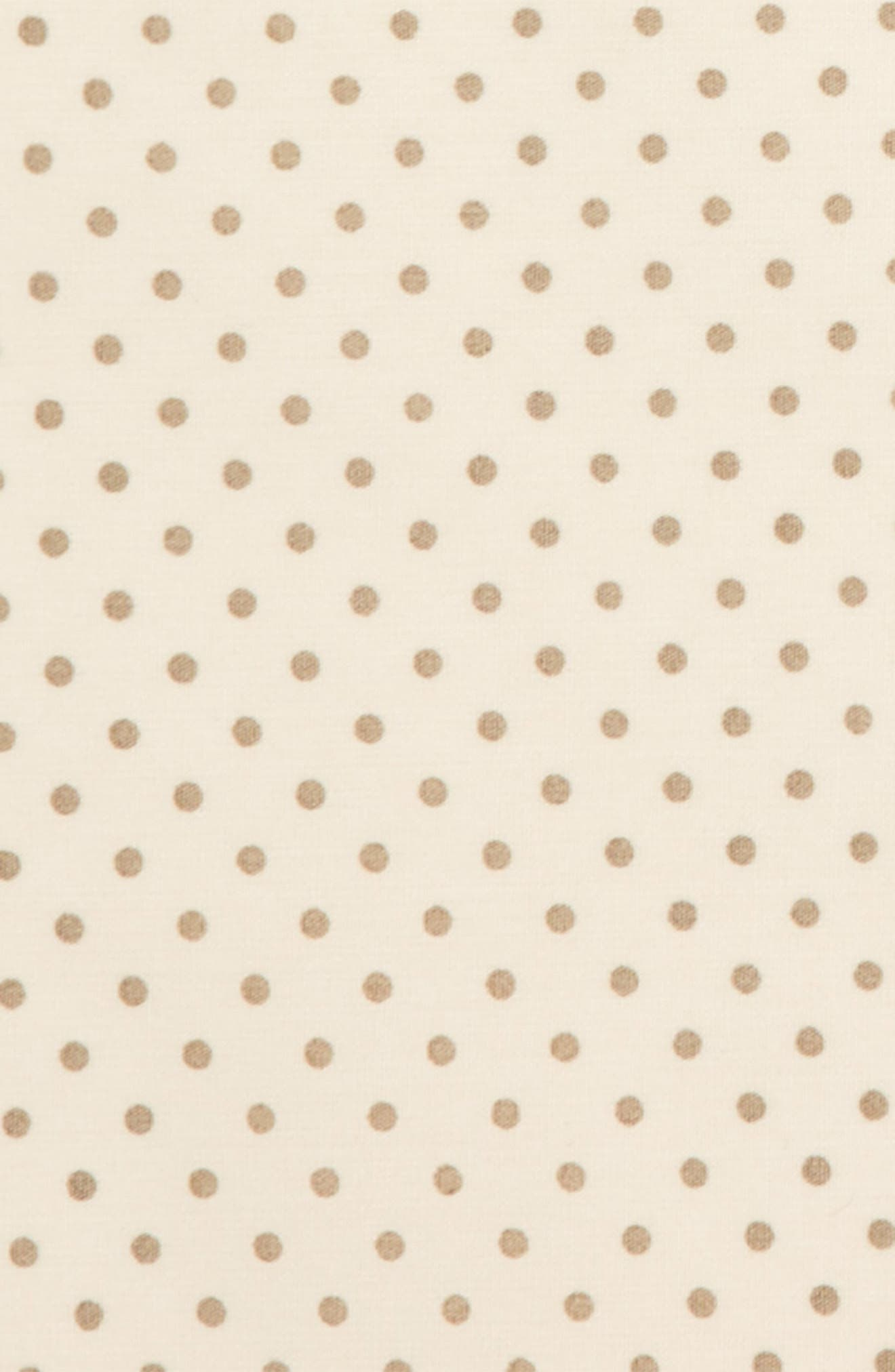 Dot Cotton Pocket Square,                             Alternate thumbnail 3, color,                             Cream