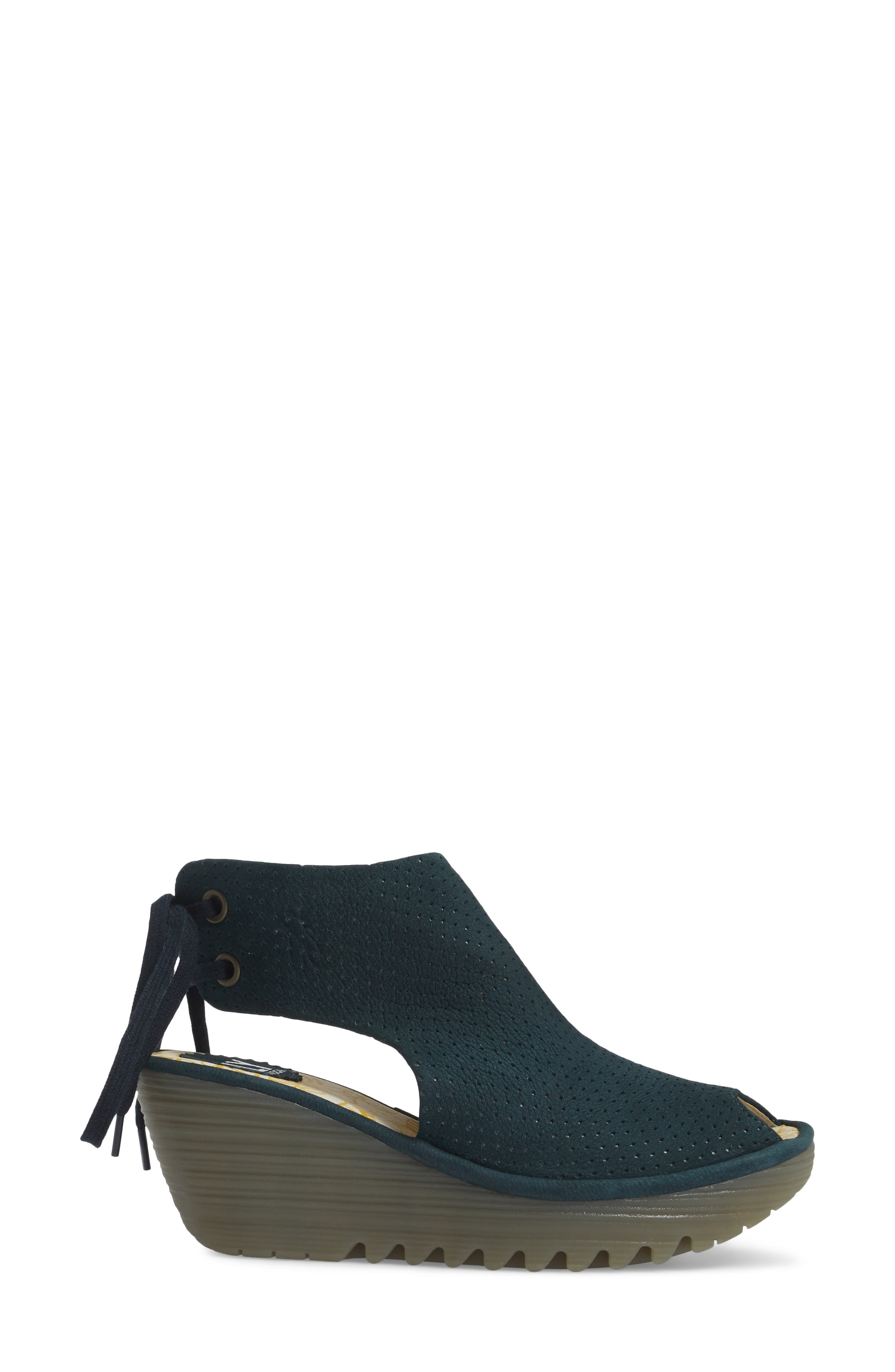 Ypul Wedge Sandal,                             Alternate thumbnail 3, color,                             Reef Cupido Leather