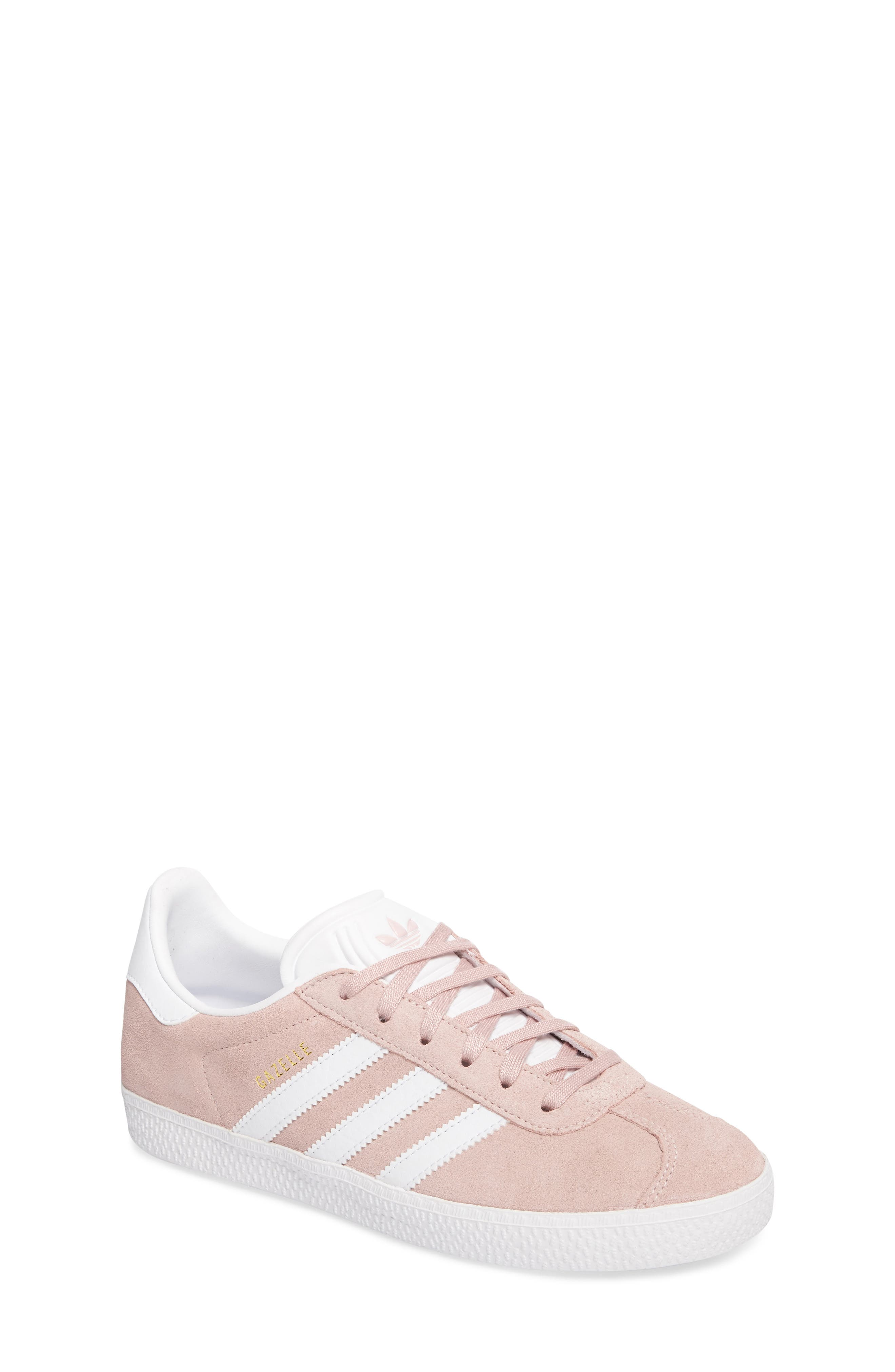 Gazelle Sneaker,                         Main,                         color, Icy Pink/ White/ Gold