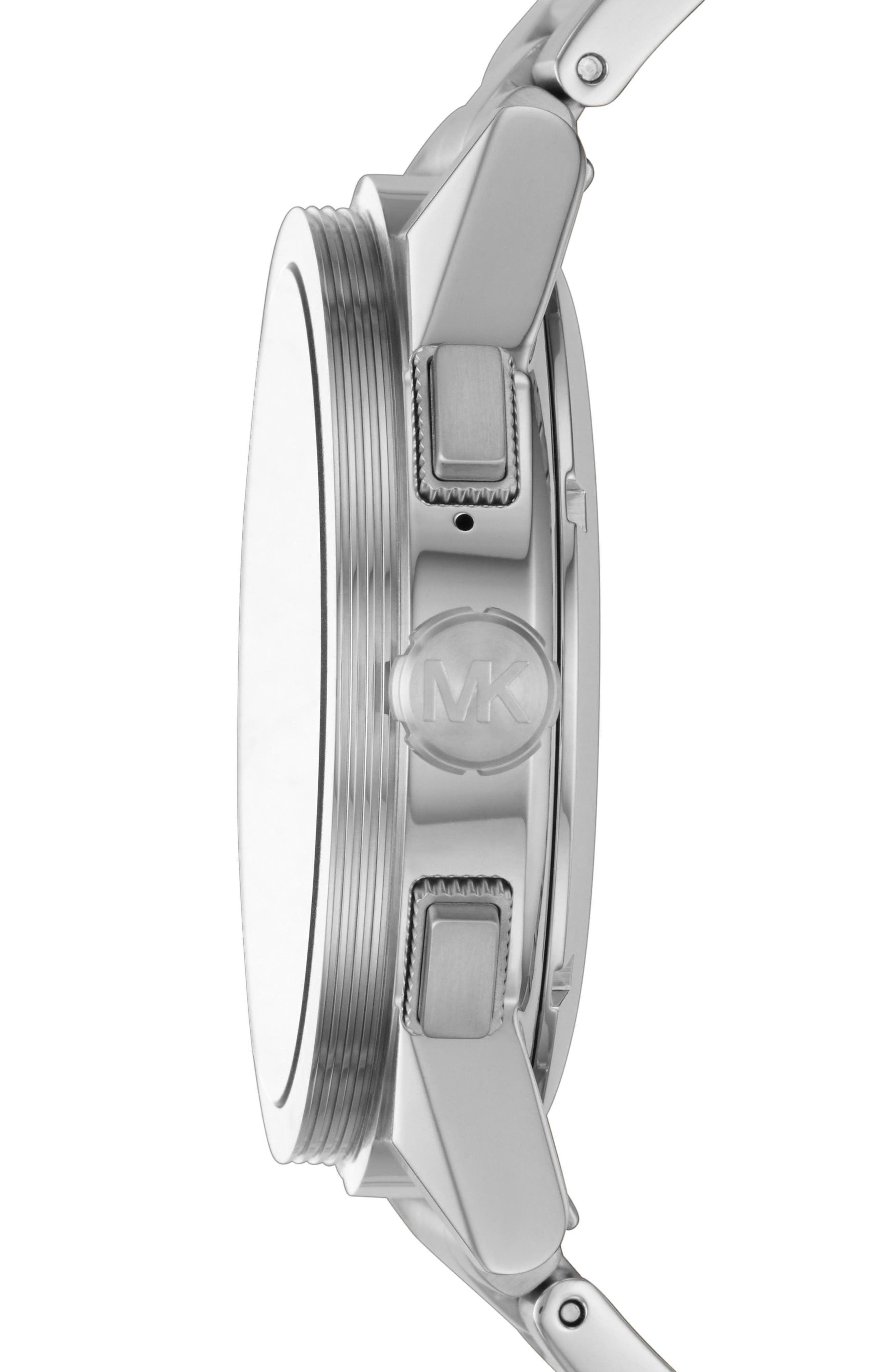 Grayson Smart Bracelet Watch, 47mm,                             Alternate thumbnail 4, color,                             Silver