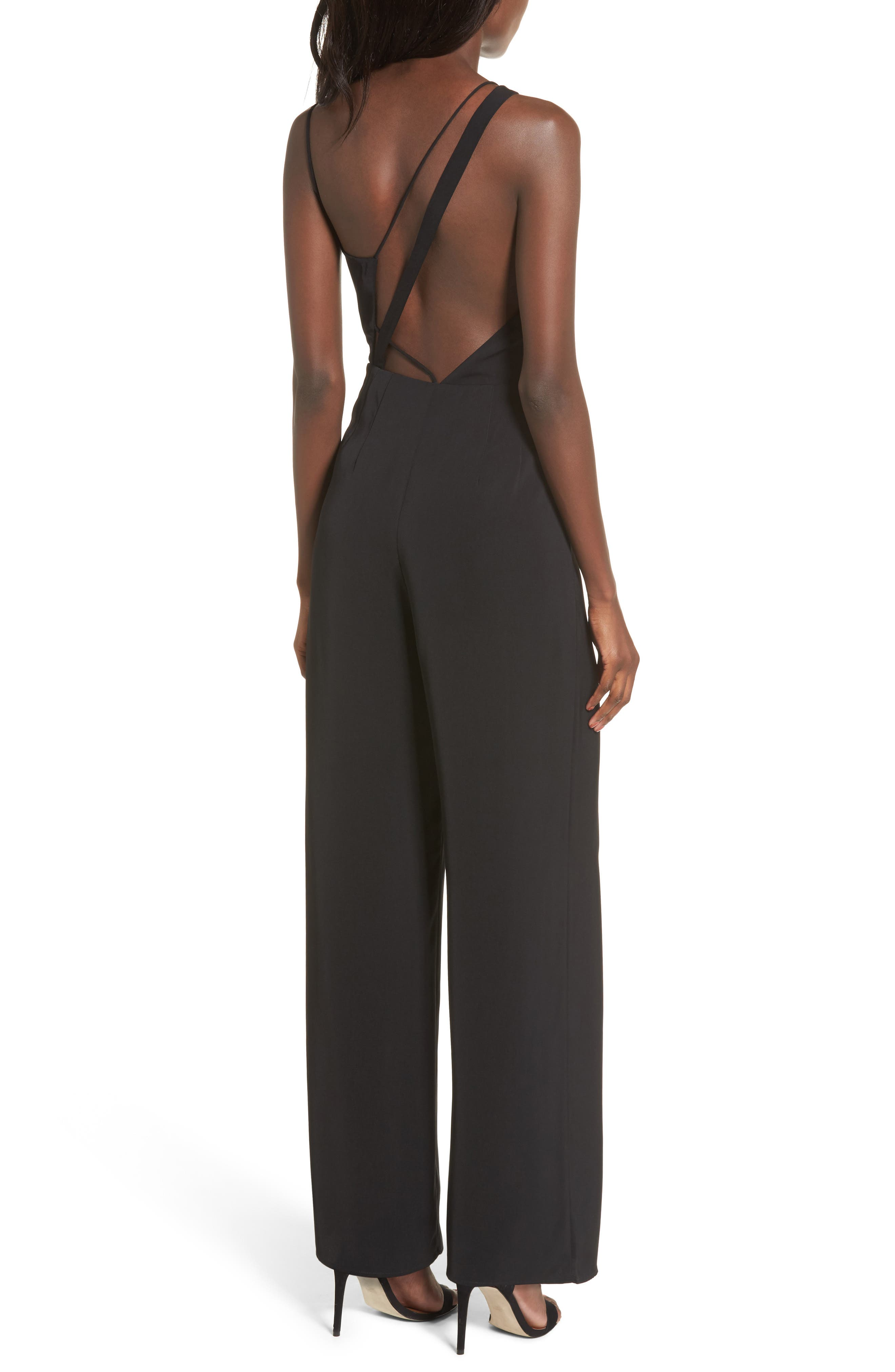Be Mine Jumpsuit,                             Alternate thumbnail 2, color,                             Black