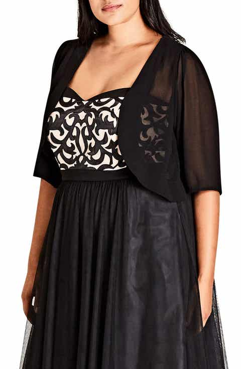 City Chic Chiffon Shrug (Plus Size)