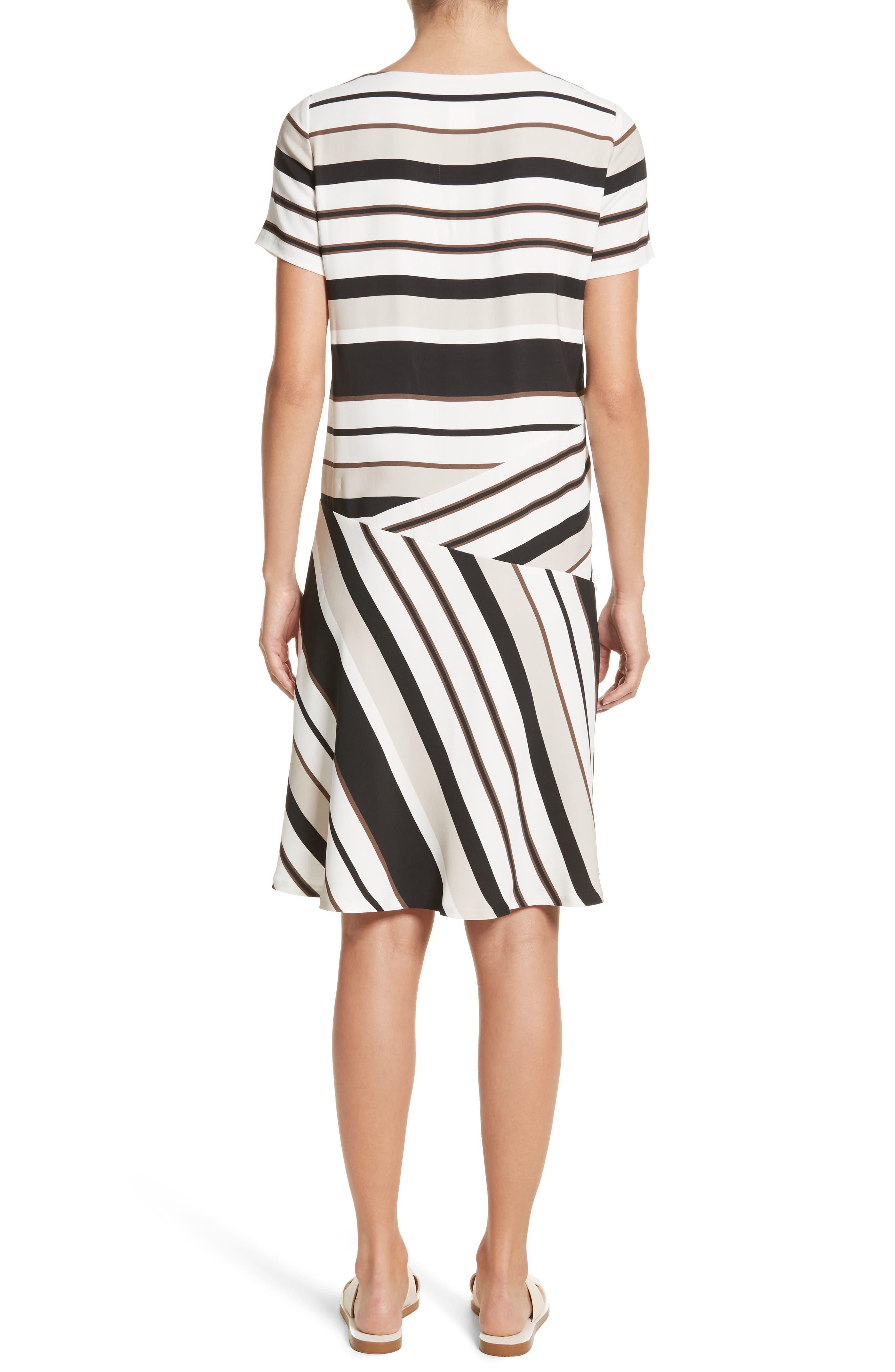 Alternate Image 2  - Lafayette 148 New York Greta Stripe Drop Waist Dress