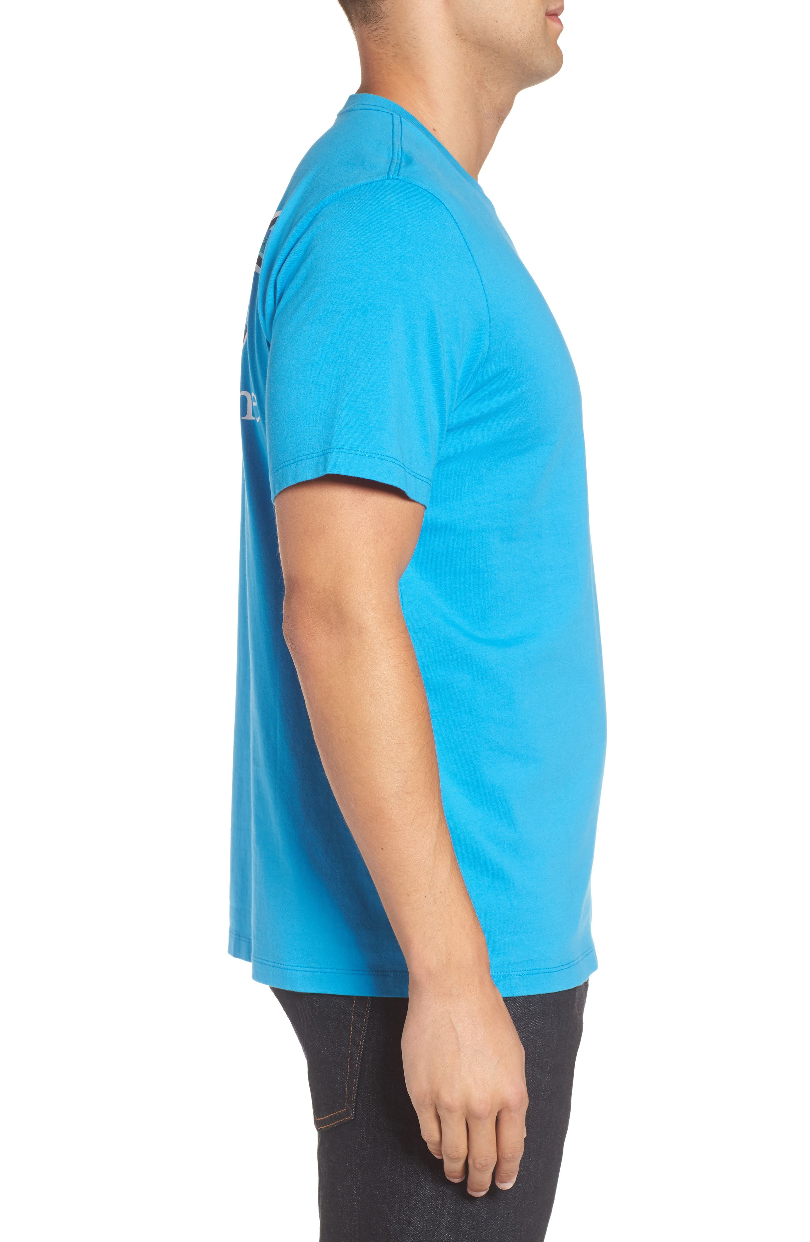 Fish Scale Whale Fill Pocket T-Shirt,                             Alternate thumbnail 3, color,                             Cay Blue
