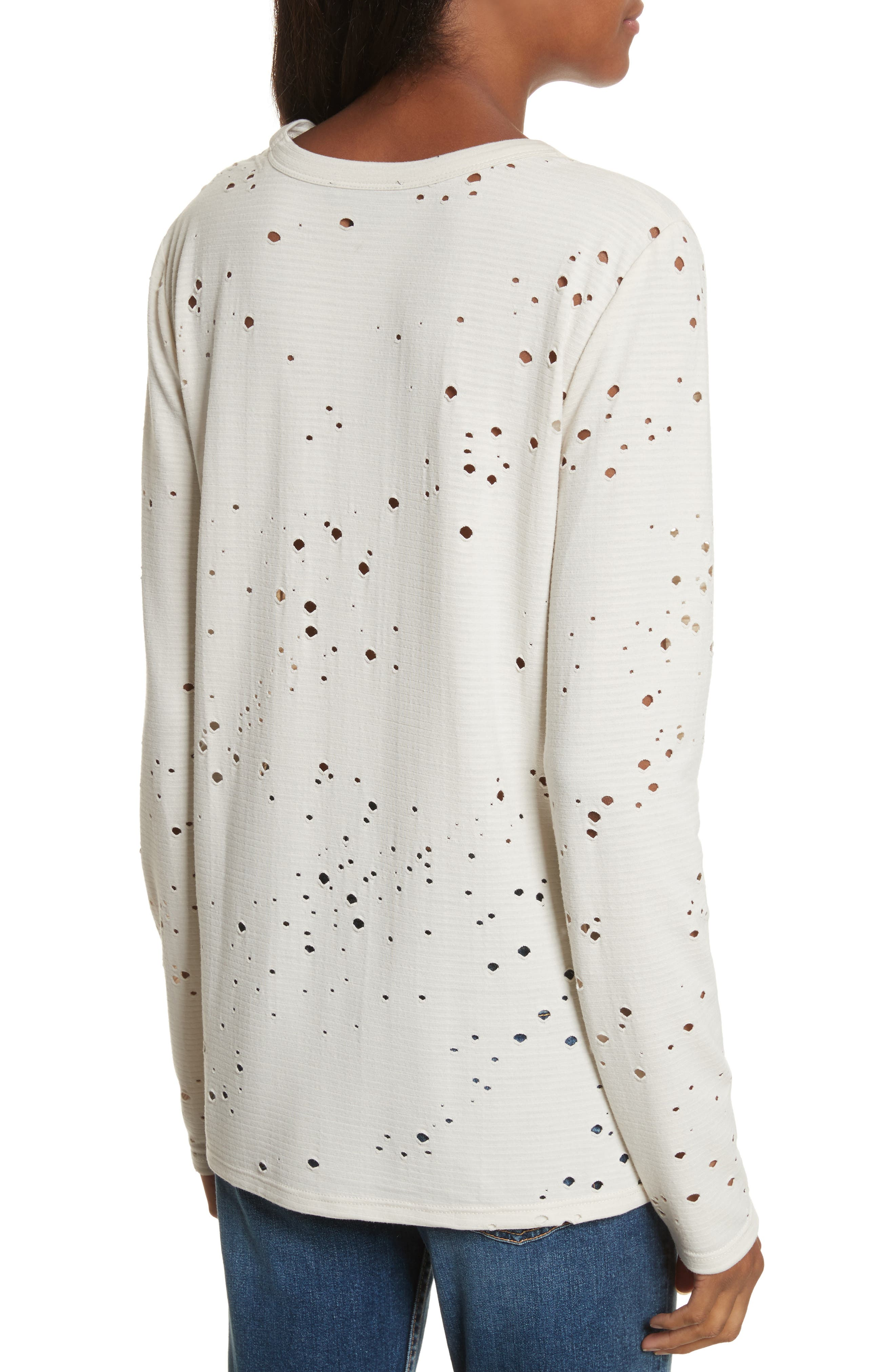 Waverly Perforated Tee,                             Alternate thumbnail 2, color,                             Eggshell