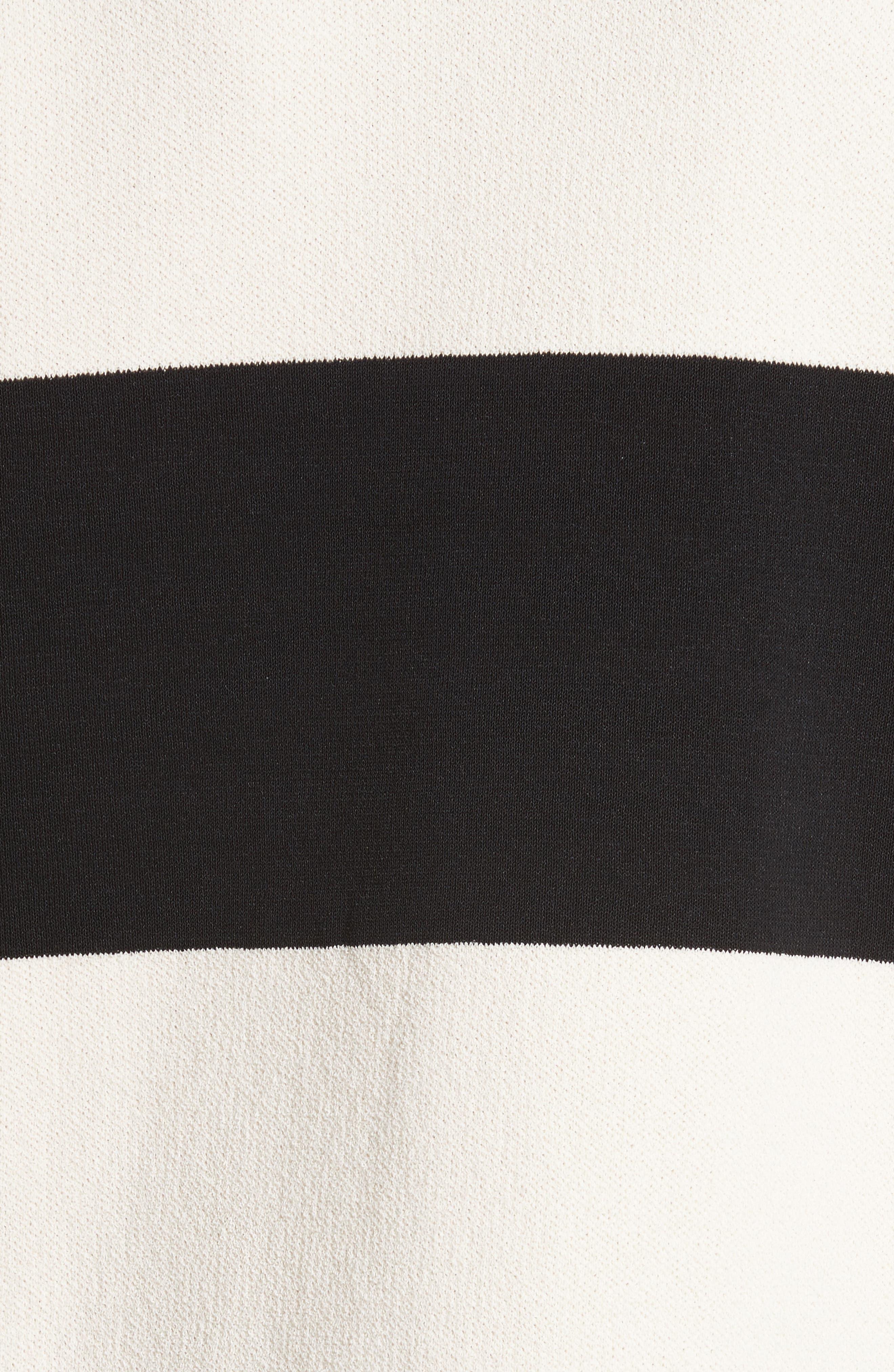 Folded Stripe Sweater,                             Alternate thumbnail 6, color,                             Ivory/ Black