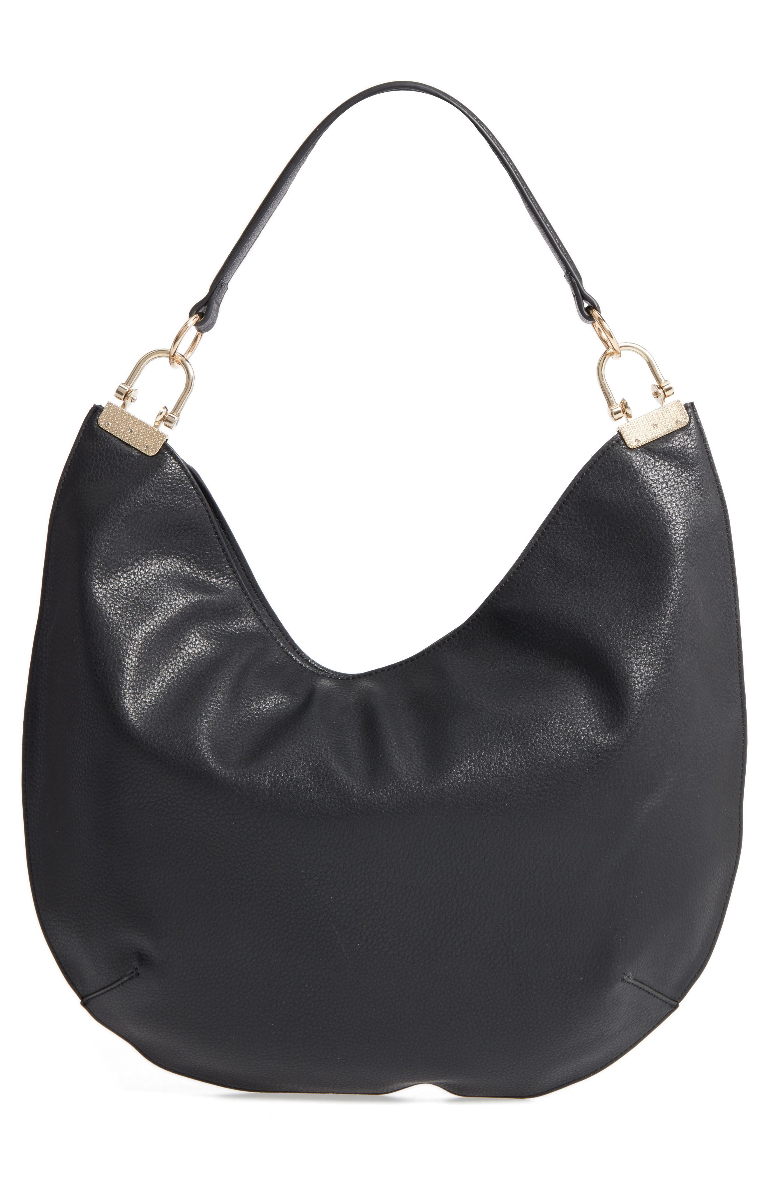 Alternate Image 2  - Sole Society Blaine Suede Trim Faux Leather Hobo