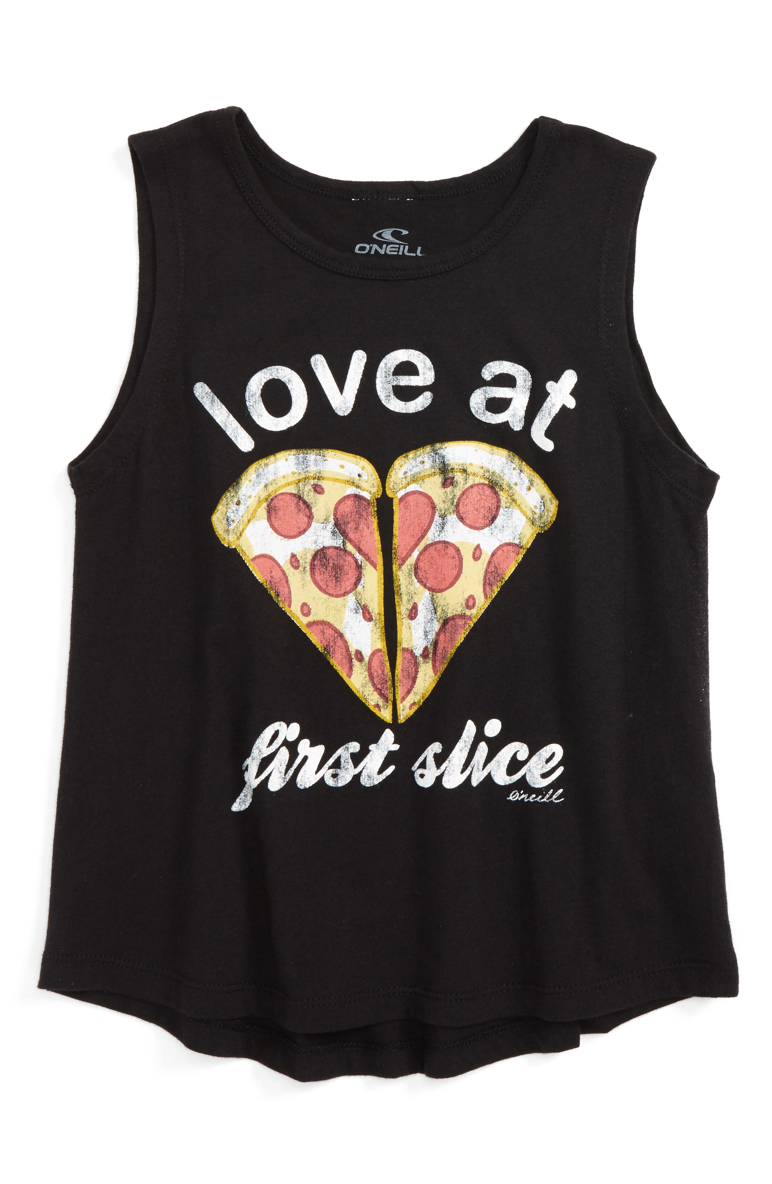 Love at First Slice Graphic Tank,                         Main,                         color, Black