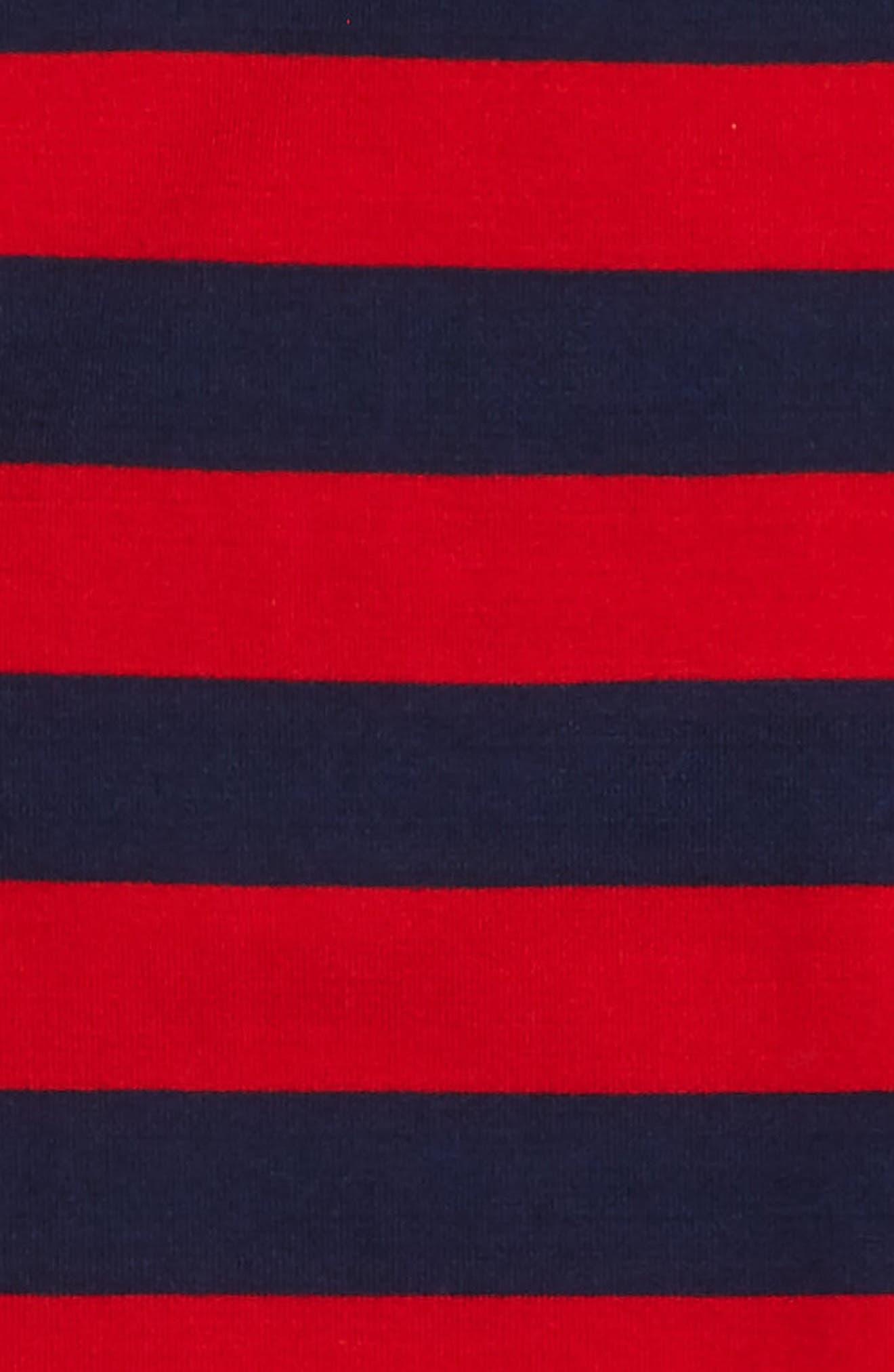 Stripe T-Shirt,                             Alternate thumbnail 2, color,                             Red