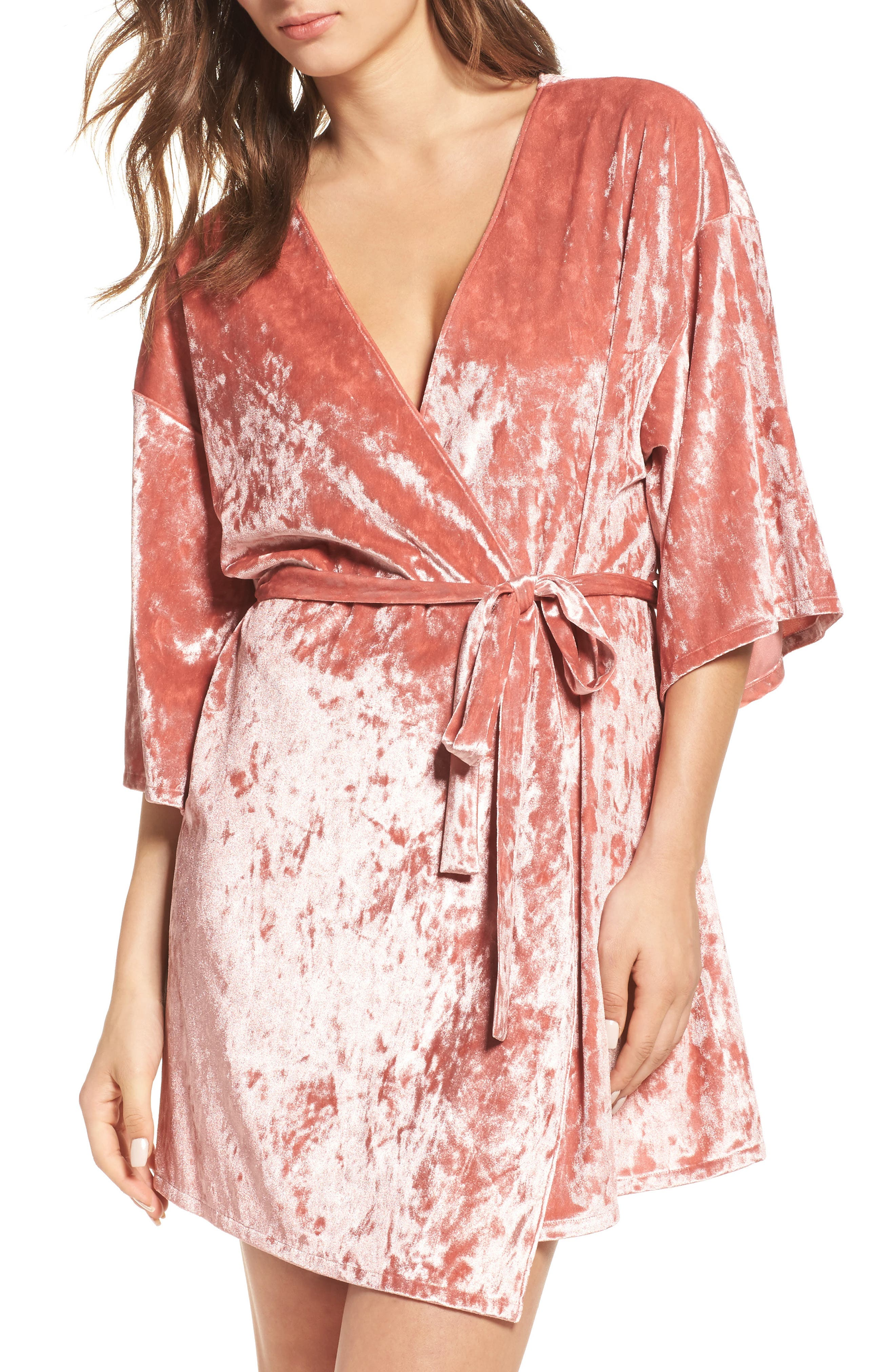 Chelsea28 Crushed Velvet Robe