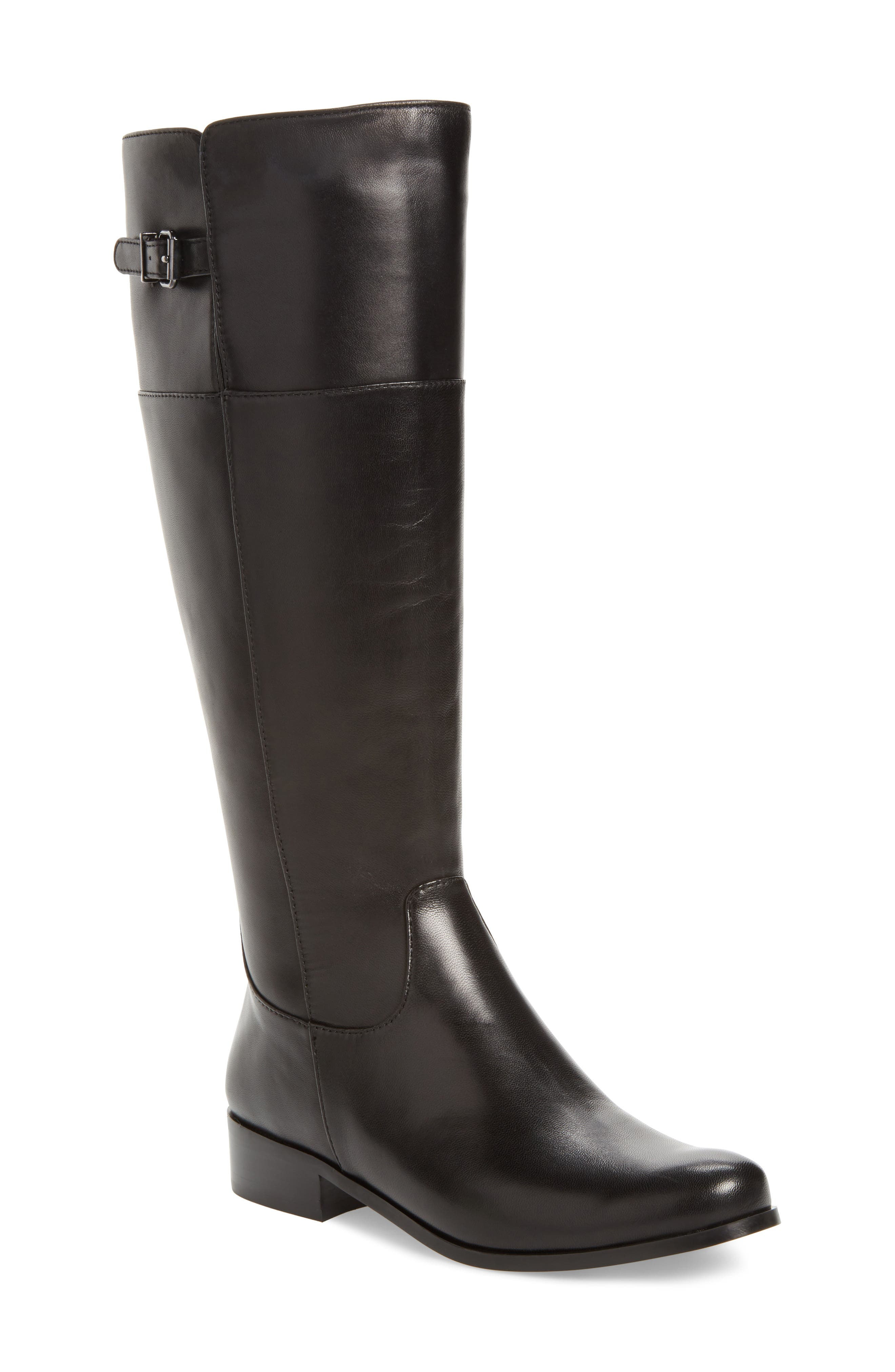 Record Boot,                             Main thumbnail 1, color,                             Black Leather