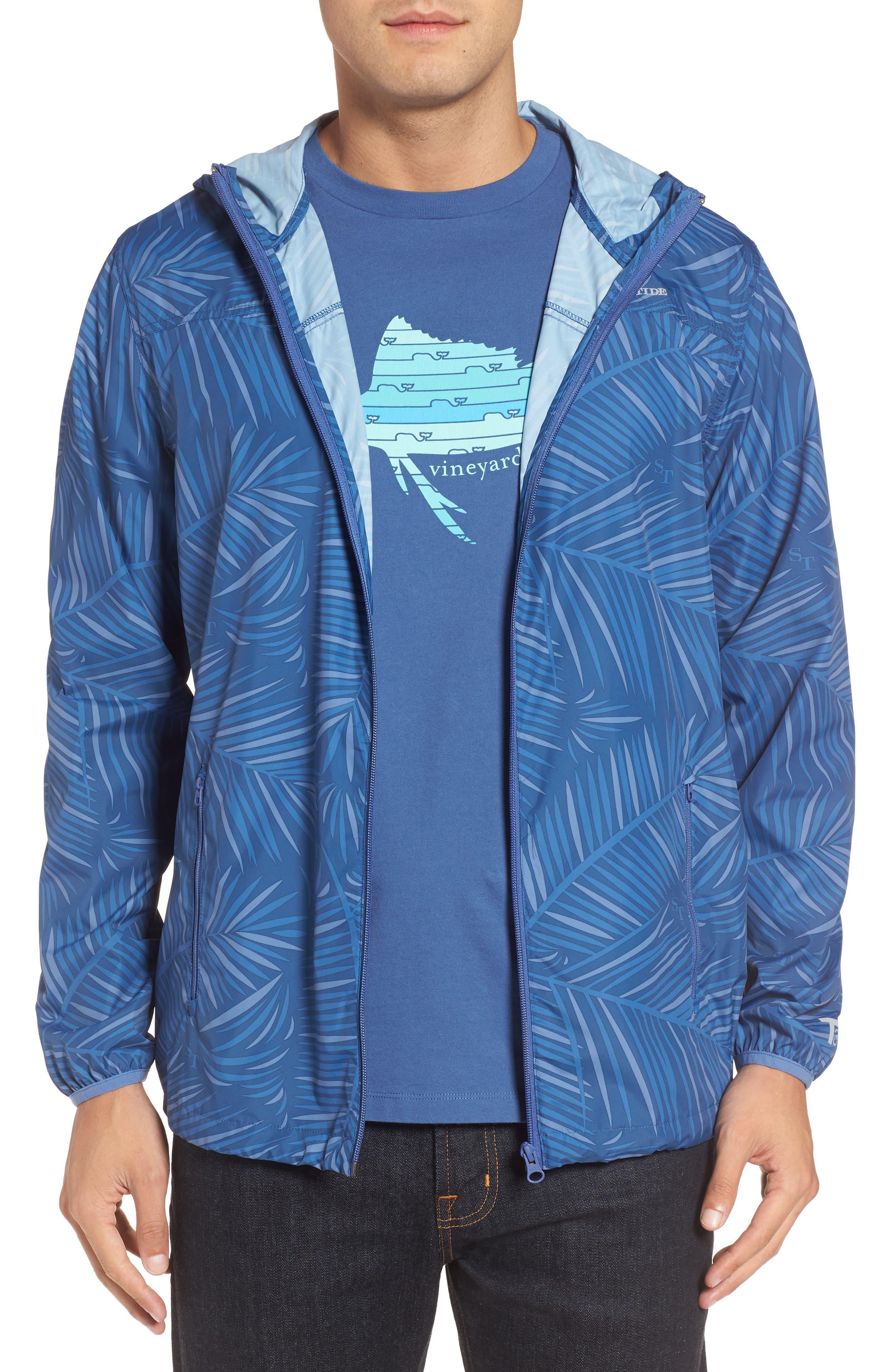 Pelican Peak Full Zip Hooded Jacket,                         Main,                         color, Seven Seas Blue
