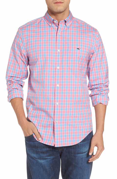 Shirts for Men, Men's Pink Check & Plaid Shirts | Nordstrom