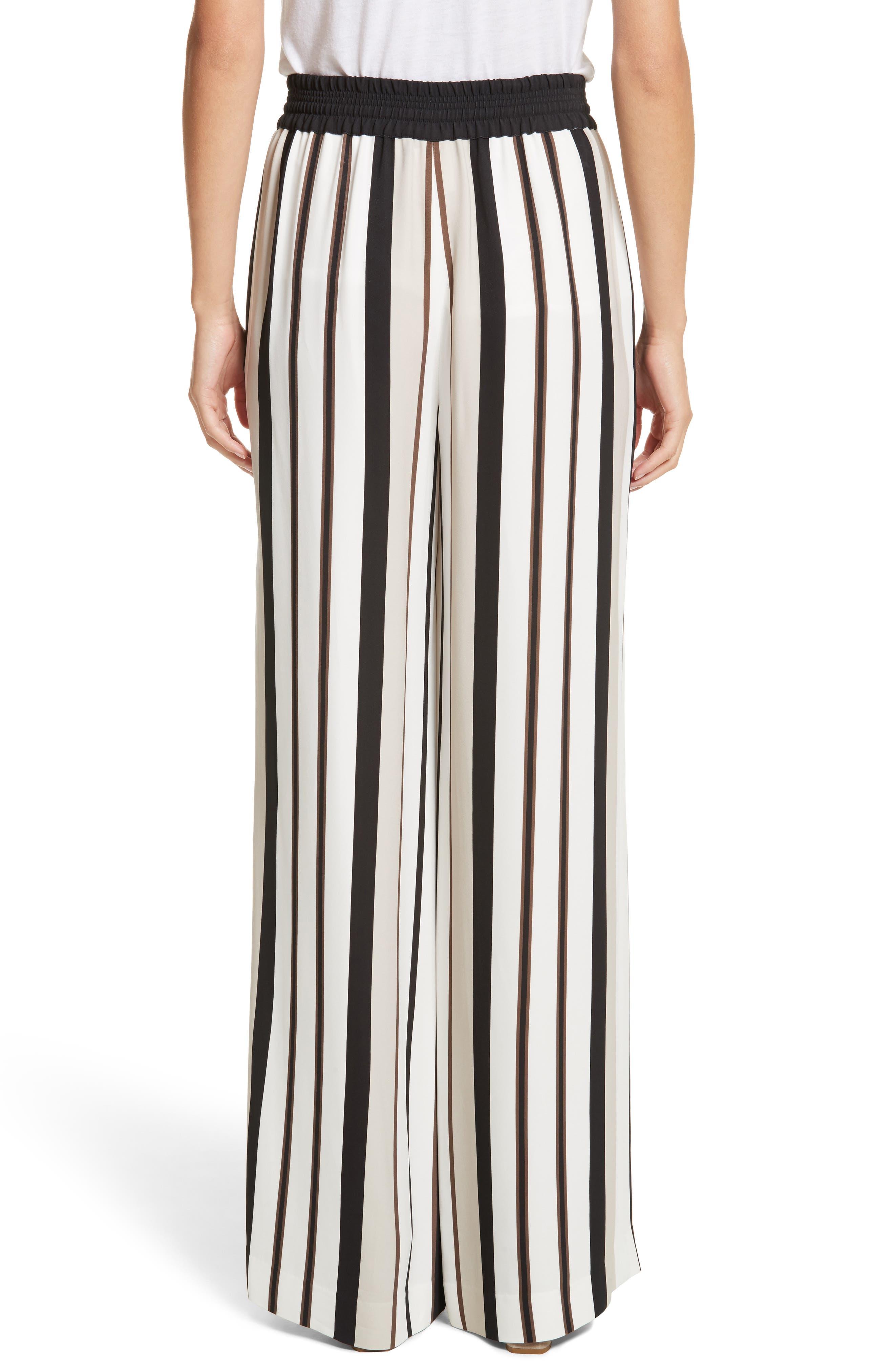 Allen Legacy Stripe Drape Cloth Pants,                             Alternate thumbnail 2, color,                             Black Multi