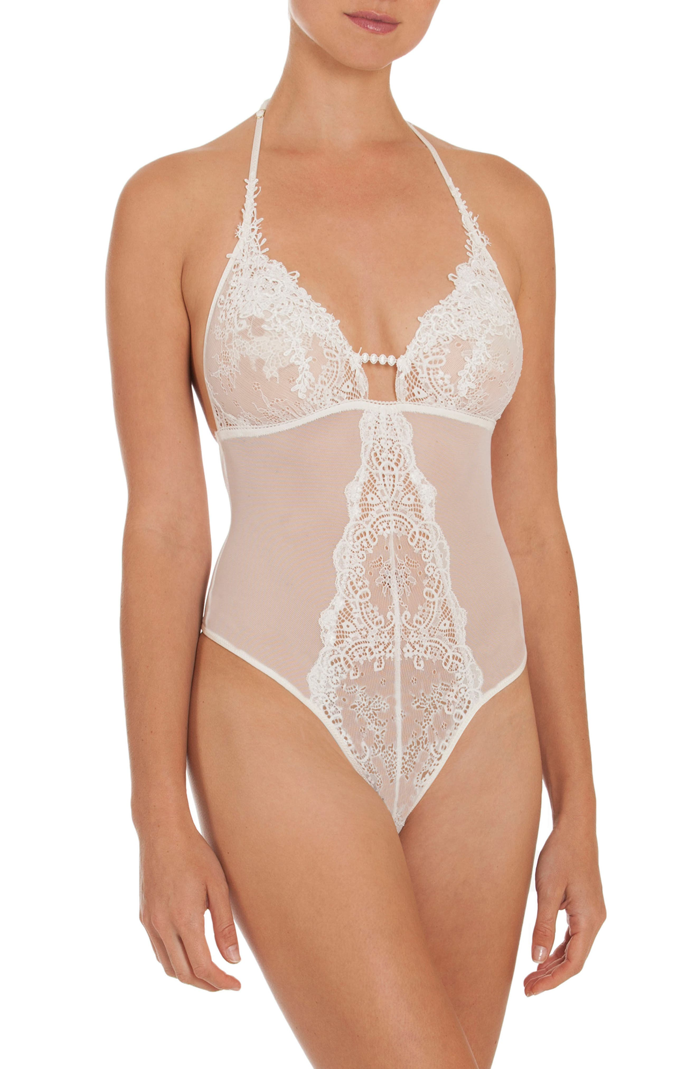 Main Image - In Bloom by Jonquil Sheer Thong Bodysuit
