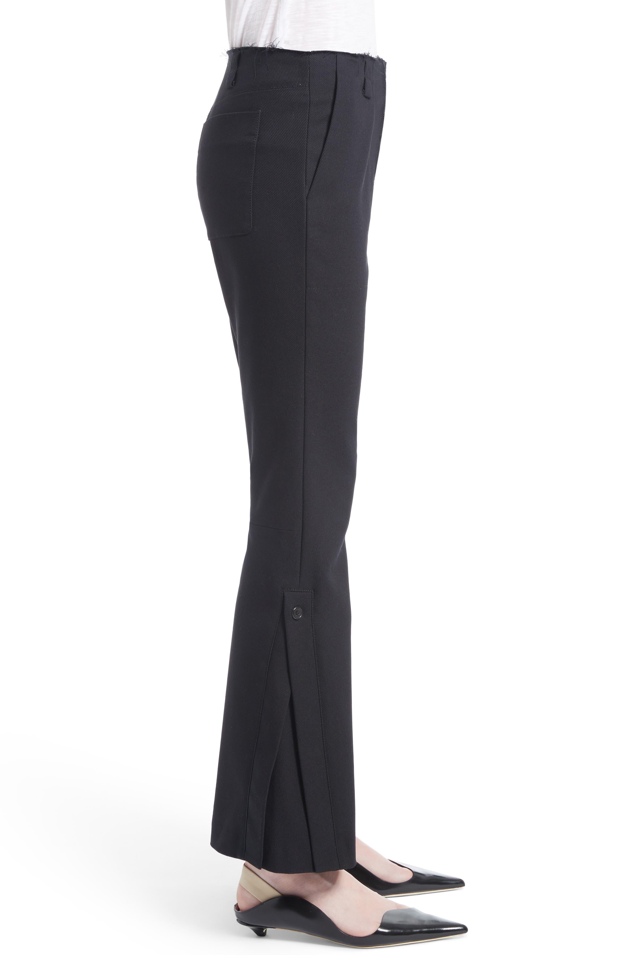 Alternate Image 3  - Proenza Schouler Stretch Cotton Blend Flare Pants