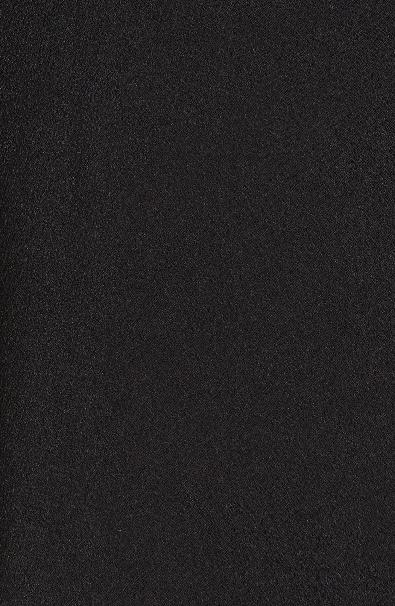 Open Back Cold Shoulder Dress,                             Alternate thumbnail 6, color,                             Crepe Satin Black