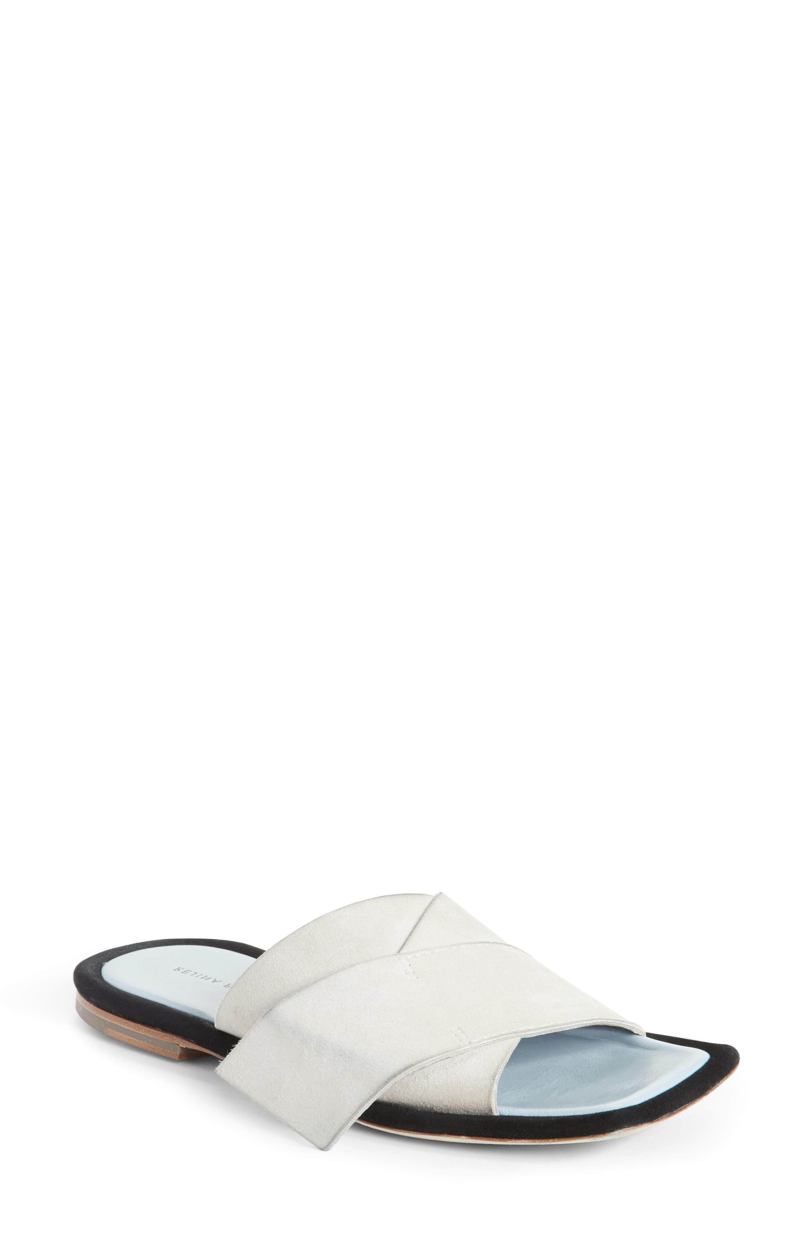 Dara Sandal,                         Main,                         color, Ivory Suede