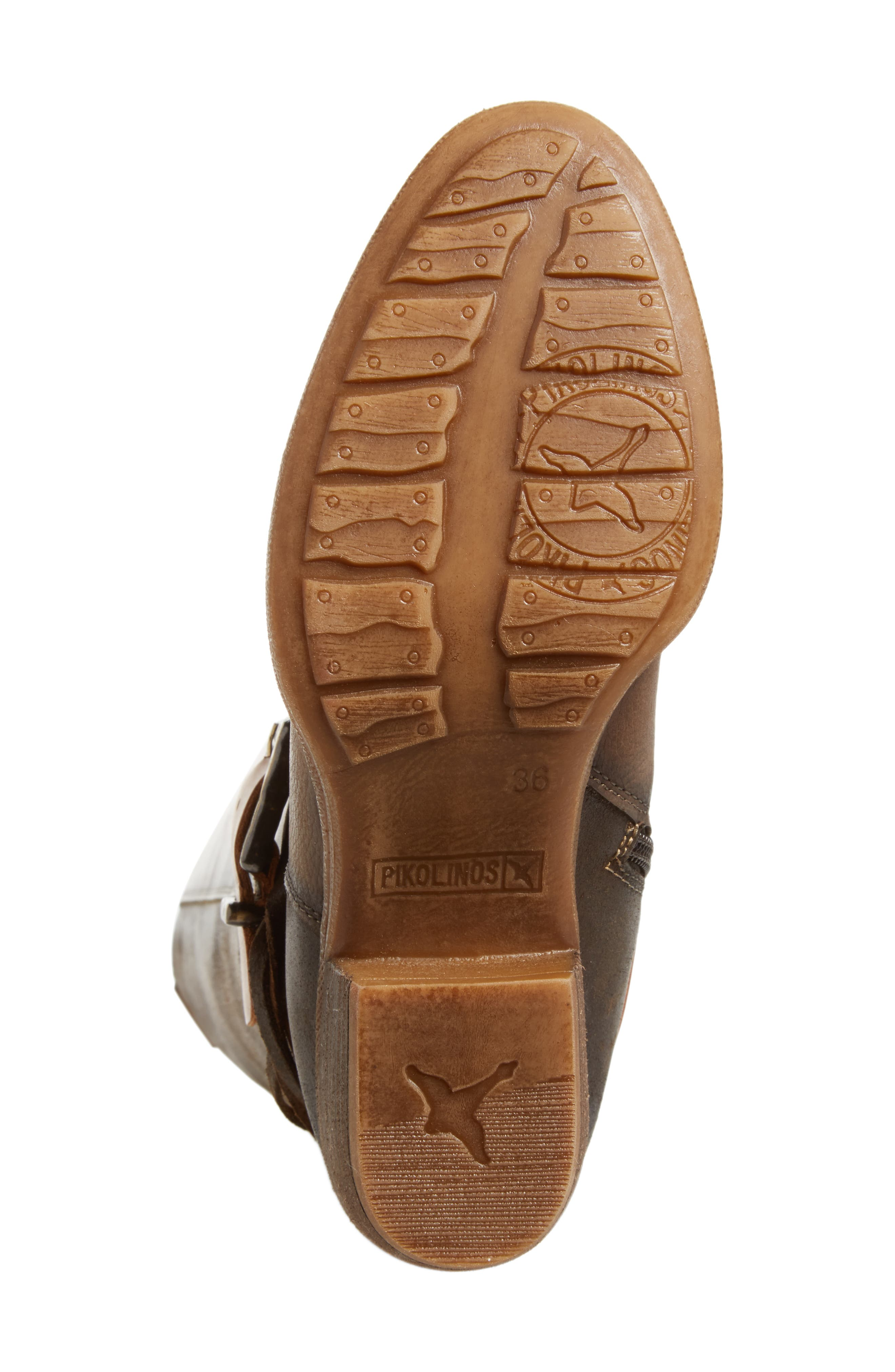 Baqueira Water Resistant Tall Boot,                             Alternate thumbnail 6, color,                             Seaweed Leather