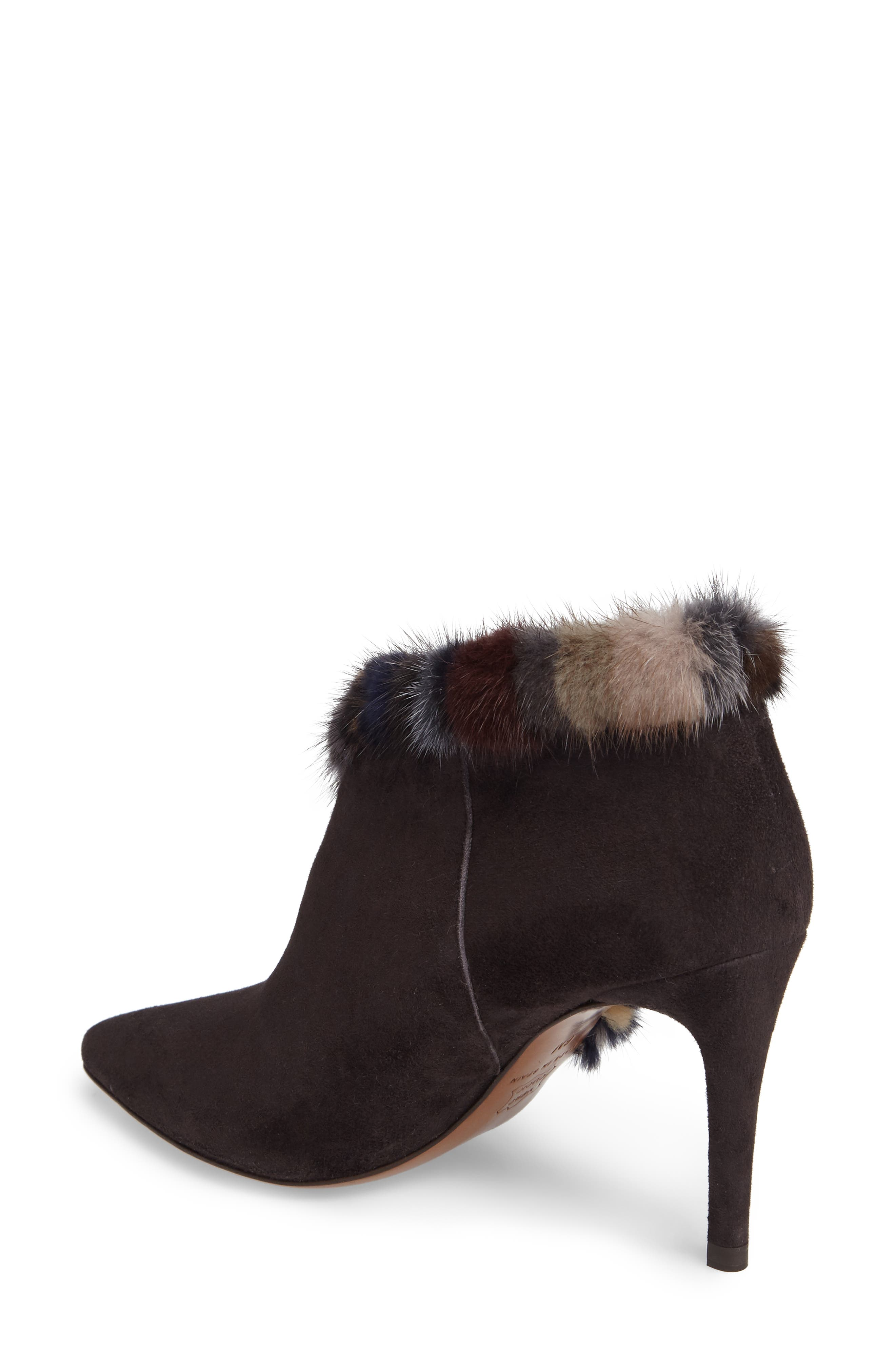 Alternate Image 2  - Donald J Pliner Renata Genuine Mink Fur Trim Bootie (Women)
