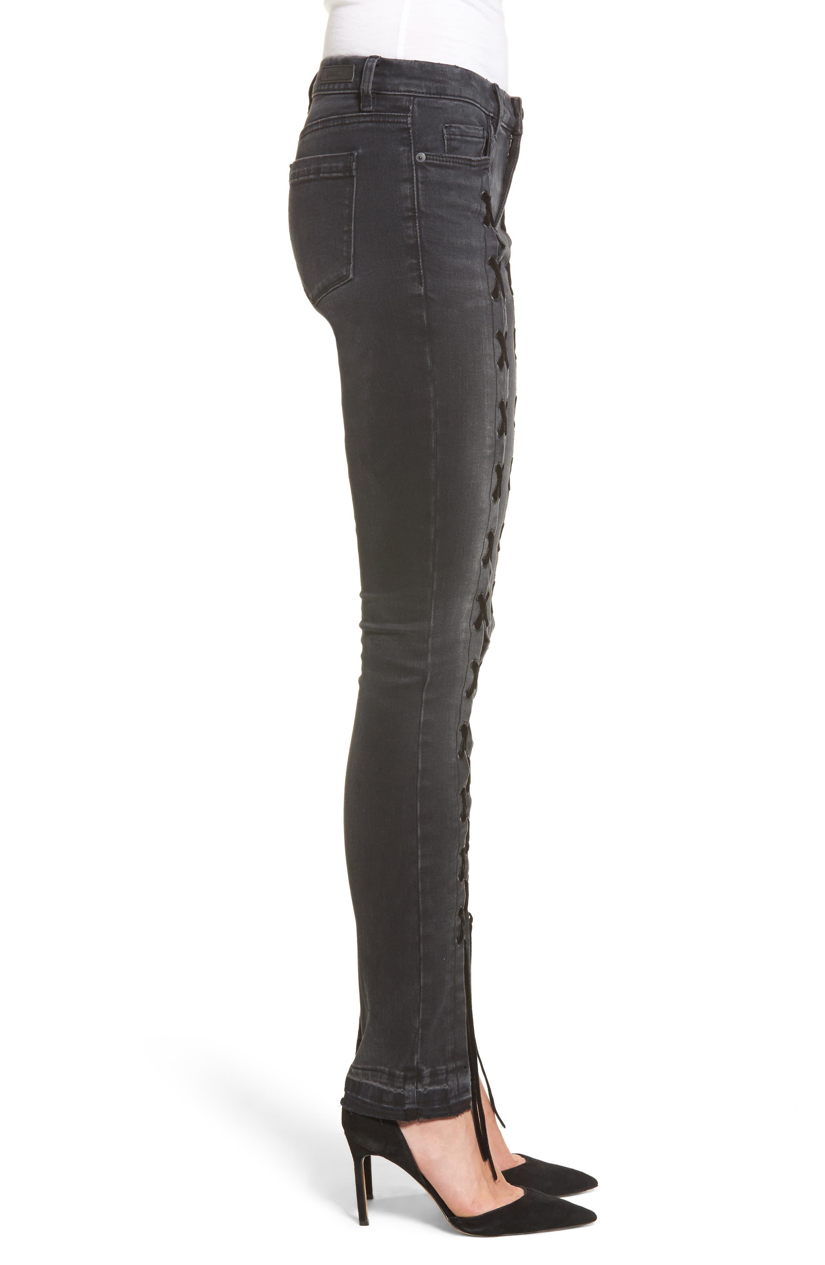 Alternate Image 3  - BLANKNYC Crash Tactics Lace Up Skinny Jeans
