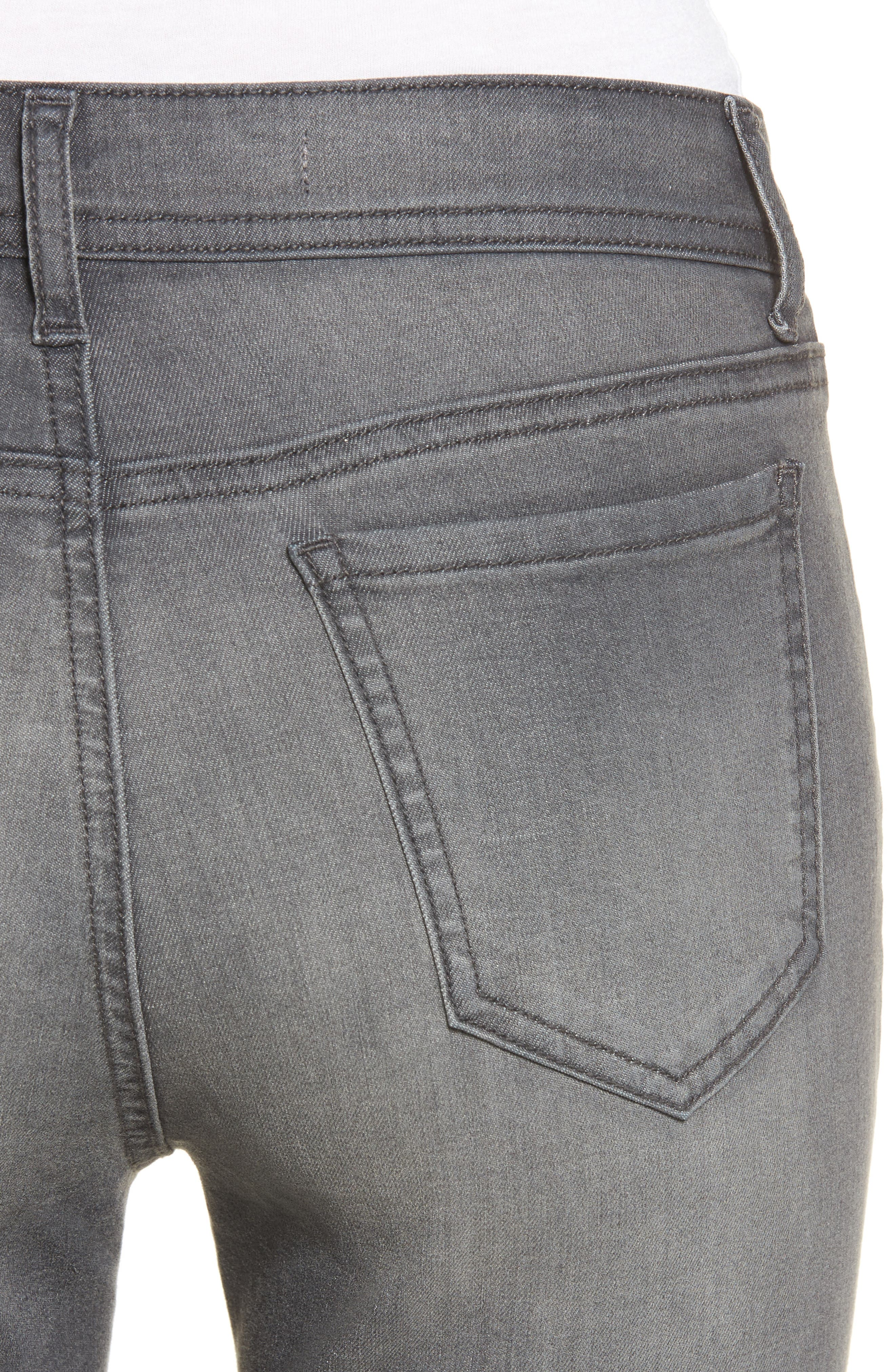Ripped Skinny Jeans,                             Alternate thumbnail 4, color,                             Rebelite Charcoal