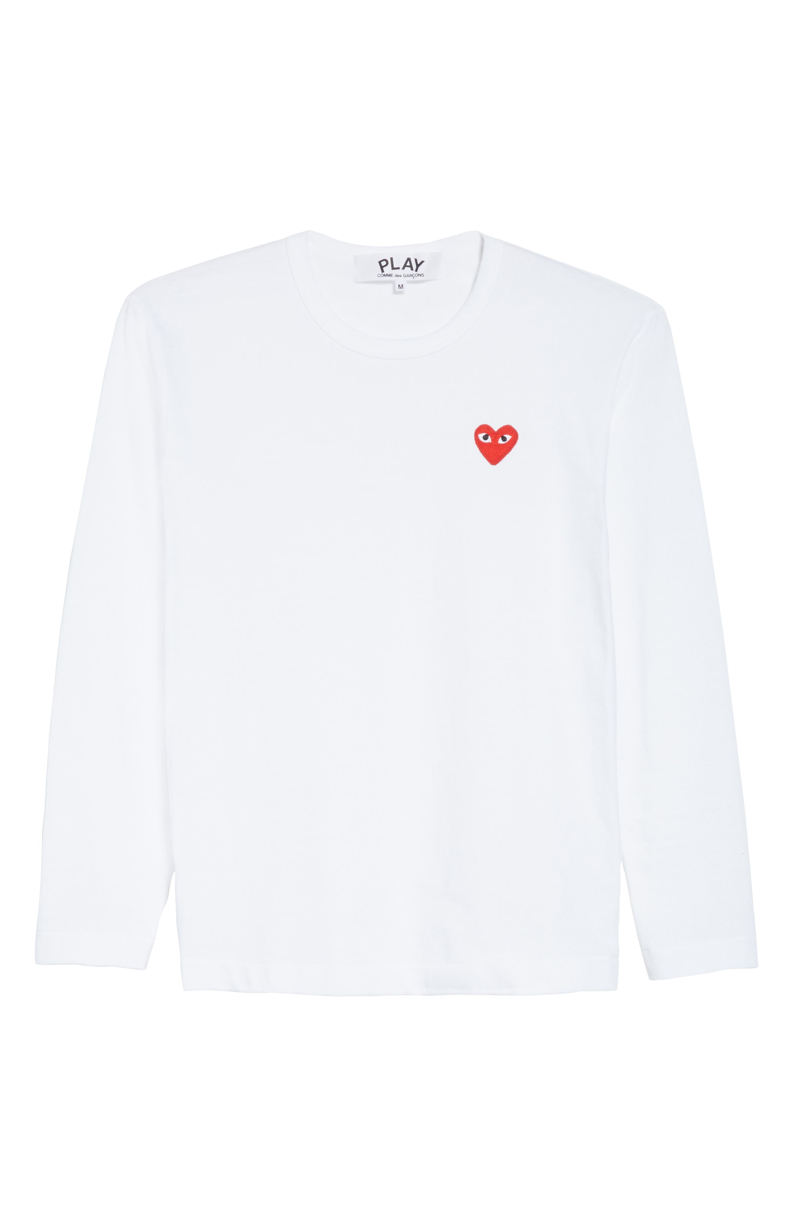 PLAY Long Sleeve T-Shirt,                             Alternate thumbnail 6, color,                             White