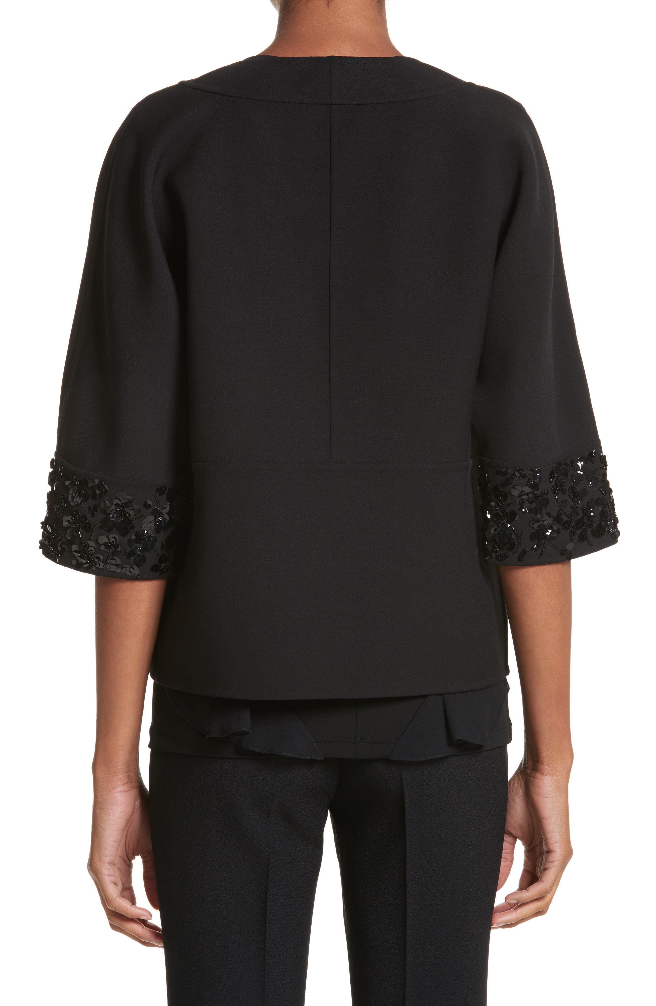 Embellished Jacket,                             Alternate thumbnail 2, color,                             Black