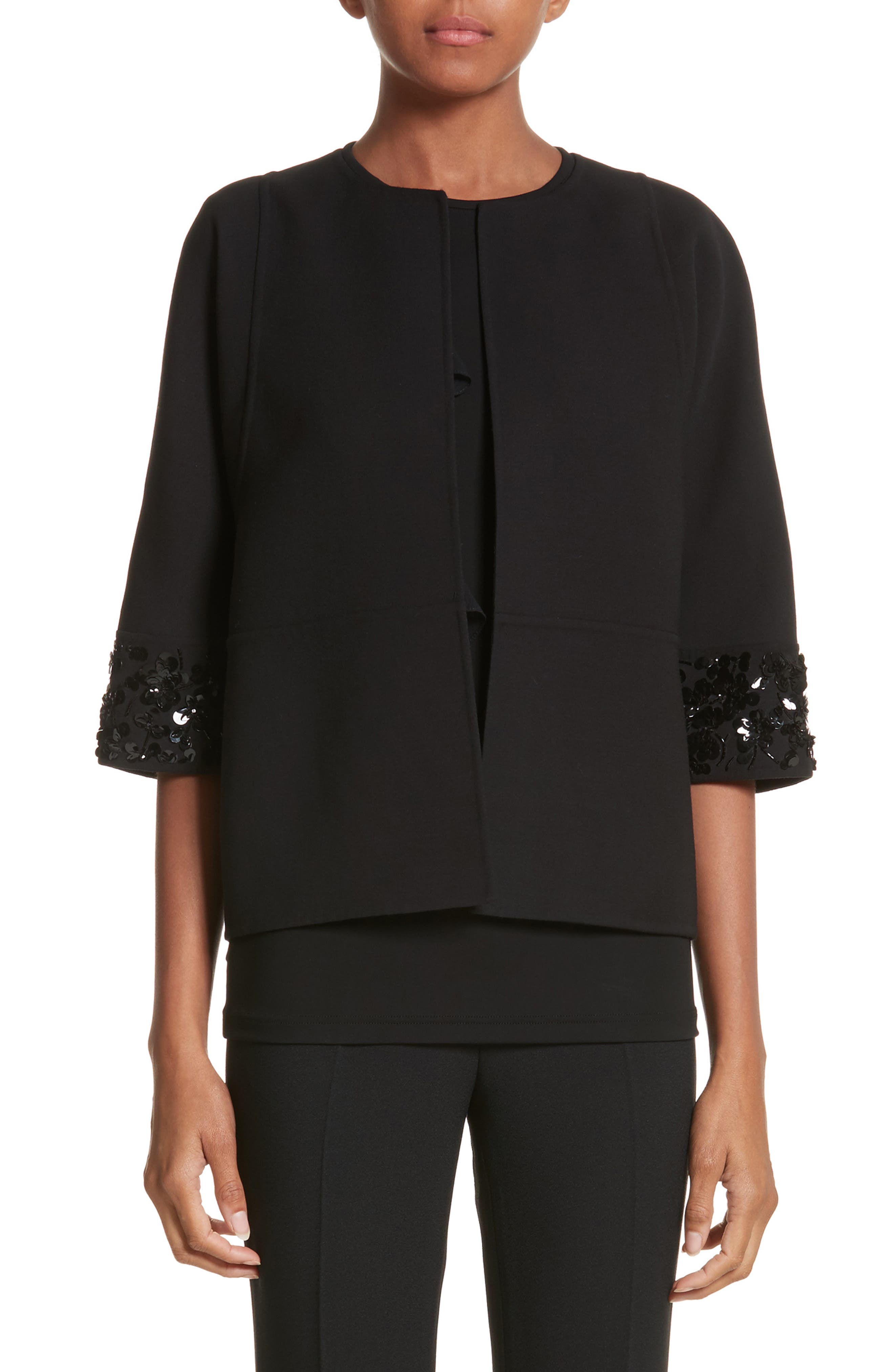 Embellished Jacket,                             Main thumbnail 1, color,                             Black