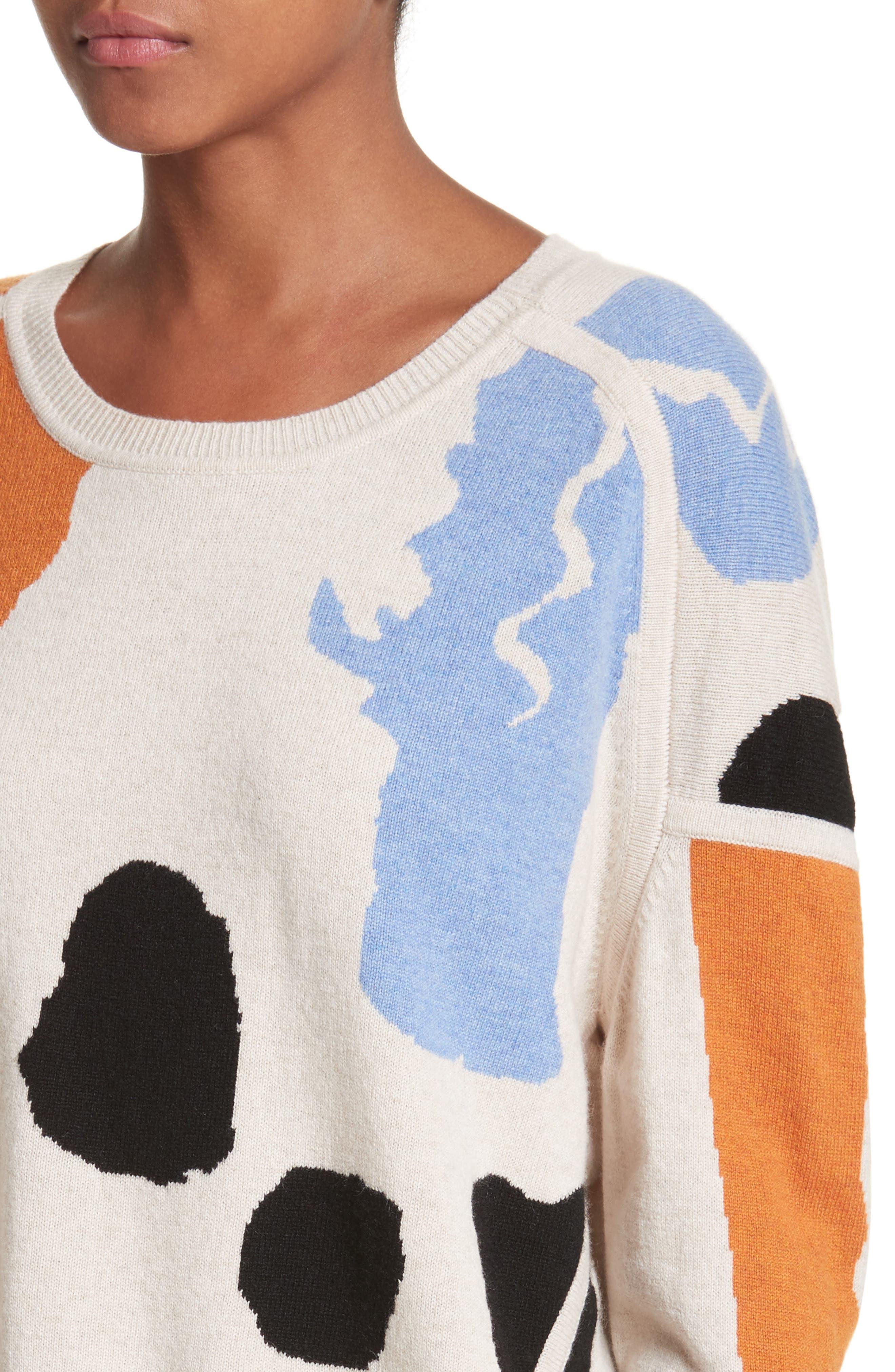 Palette Cashmere & Merino Wool Sweater,                             Alternate thumbnail 4, color,                             Palette Greige