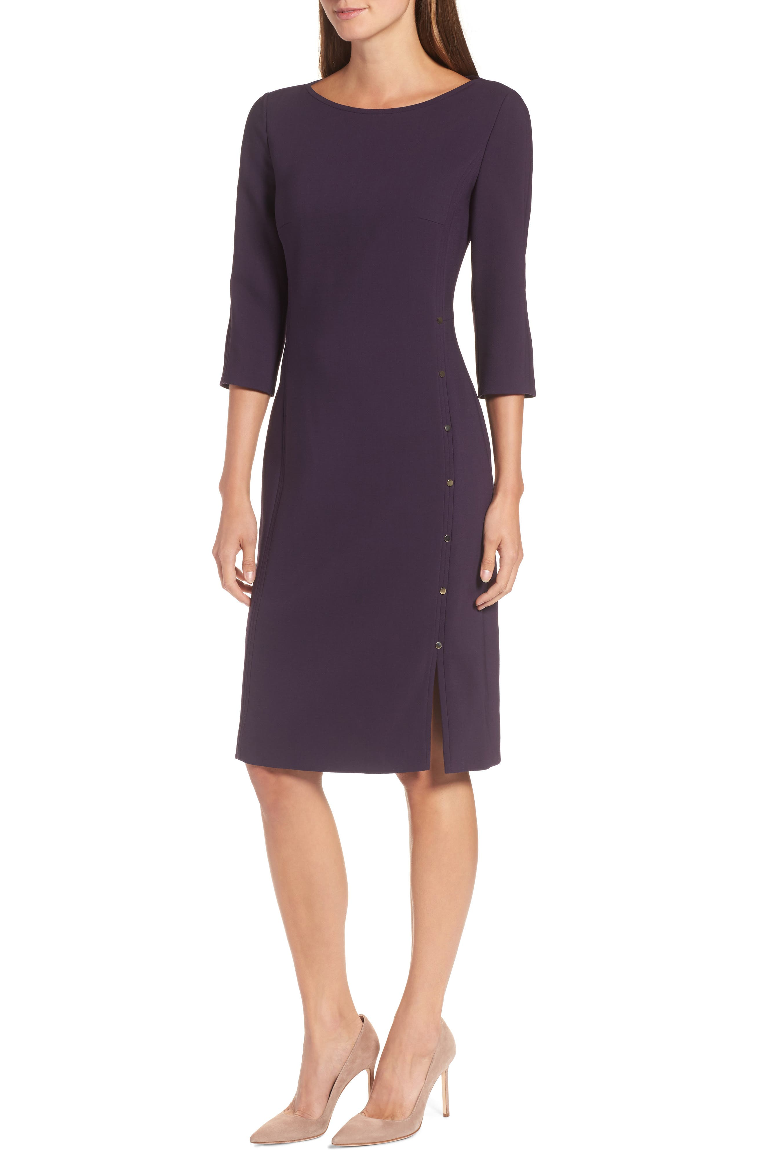 BOSS Dikena Wool Sheath Dress