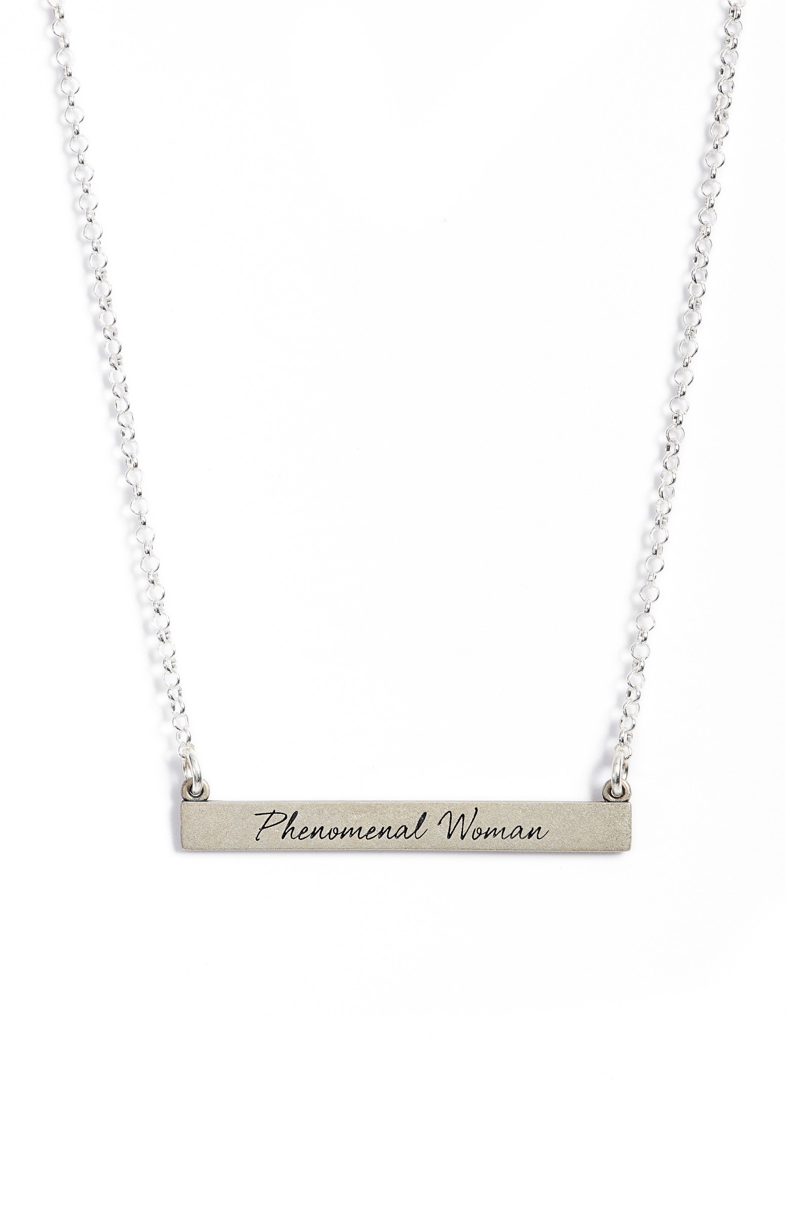 Alternate Image 3  - Dogeared Legacy Collection - Phenomenal Women Bar Necklace